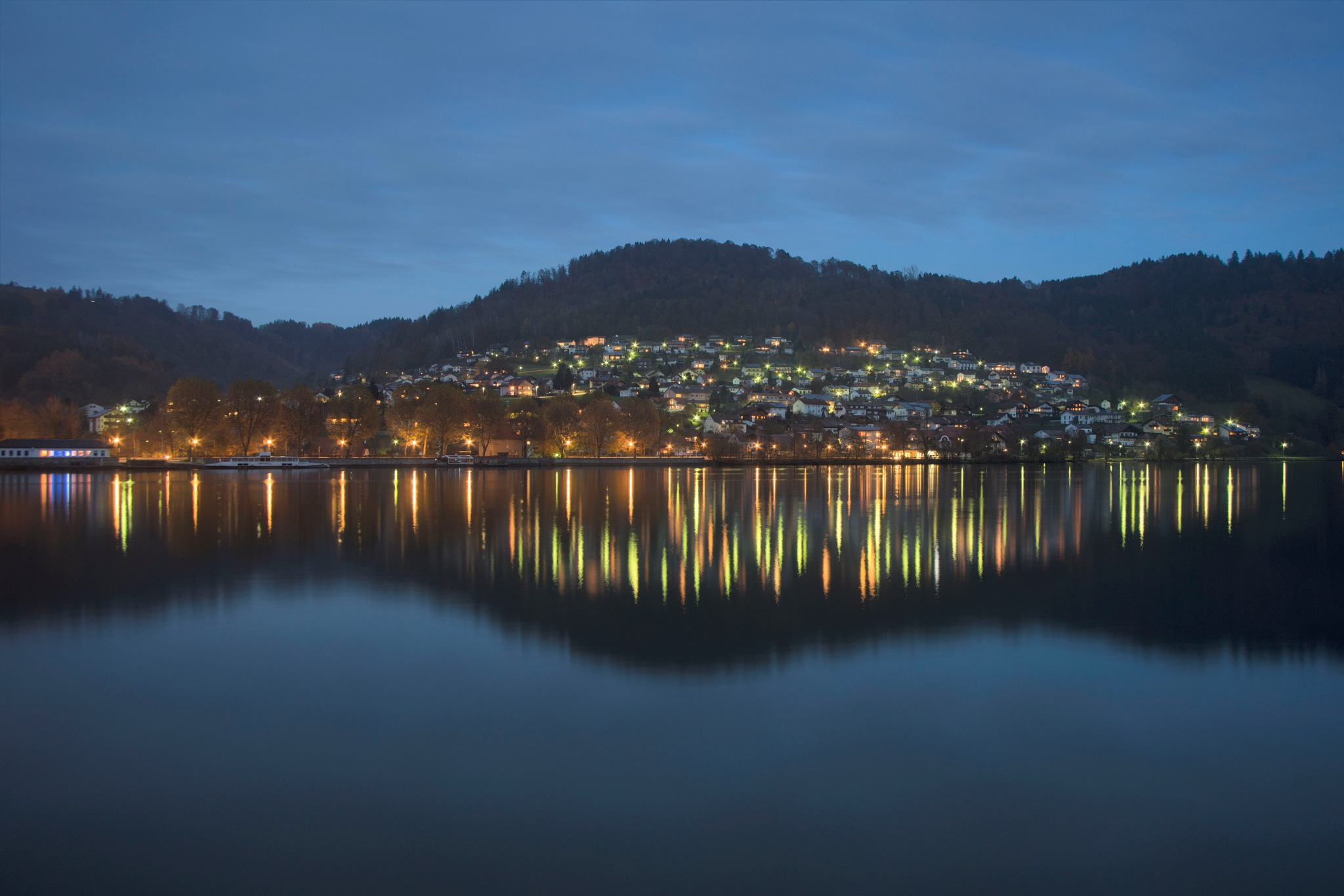 Obernzell at Night by FalcoM