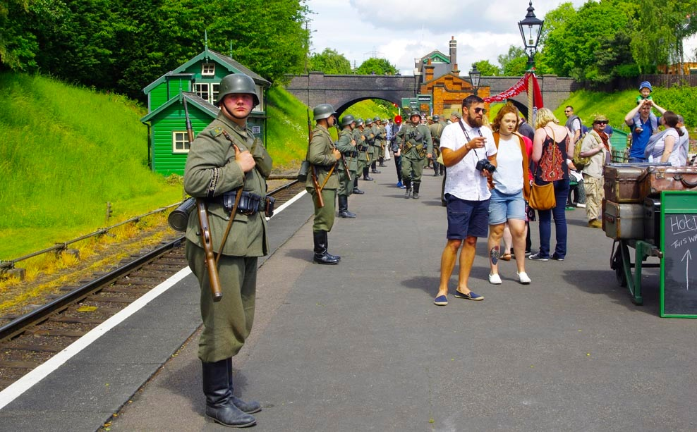 Rothley Troops awaiting the train 04 June 2017 by Owen Smithers