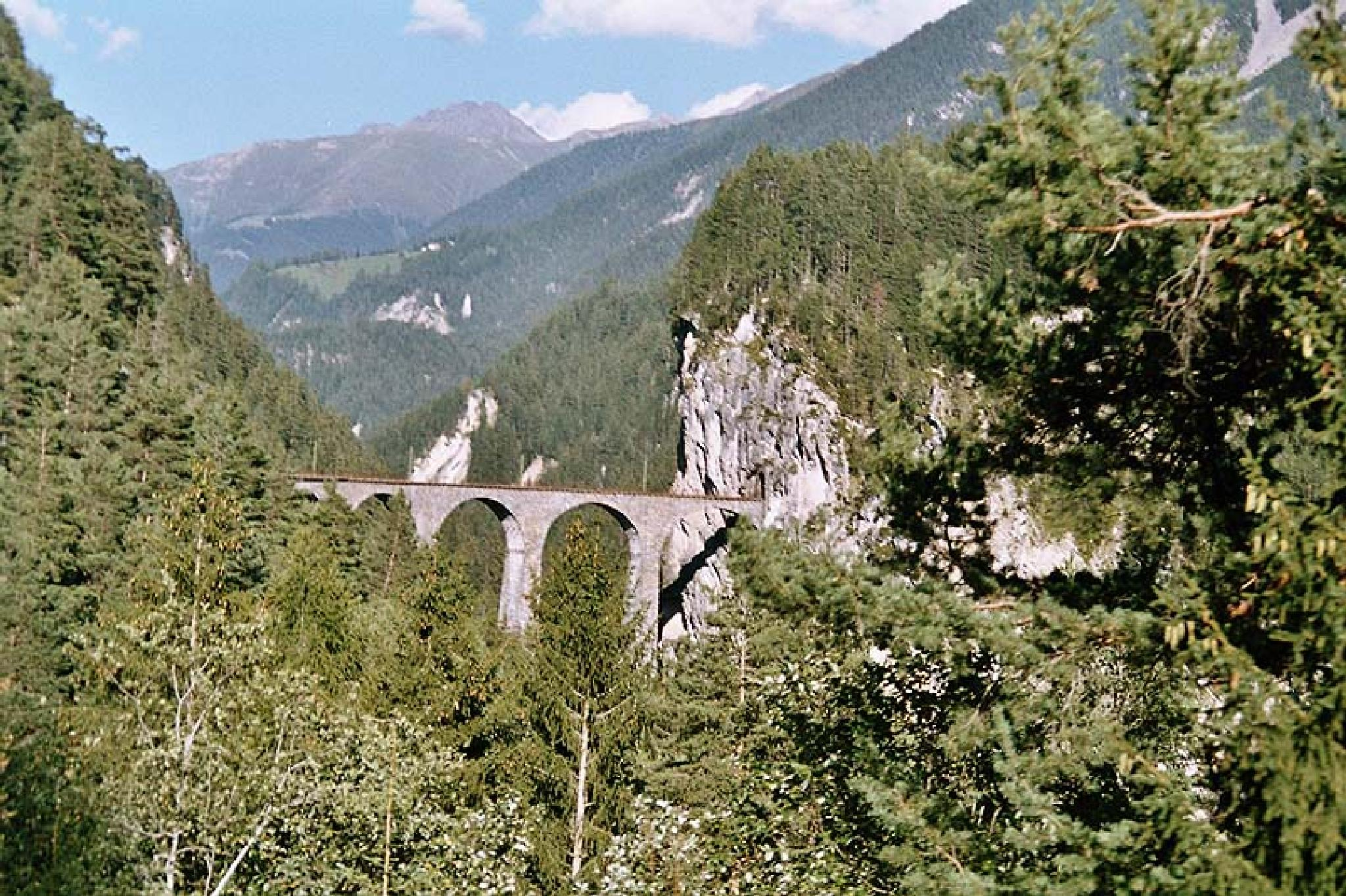 Switzerland Landwasser Viaduct (Distant)  2007 by Owen Smithers
