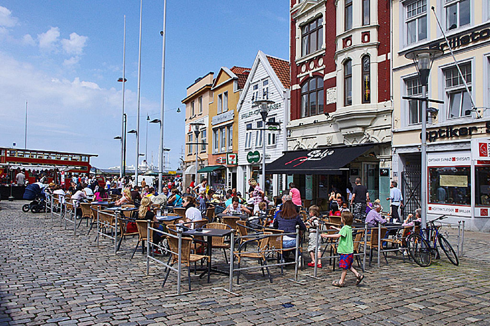 Bergen Norway Cafe Life 03 July 2010  by Owen Smithers