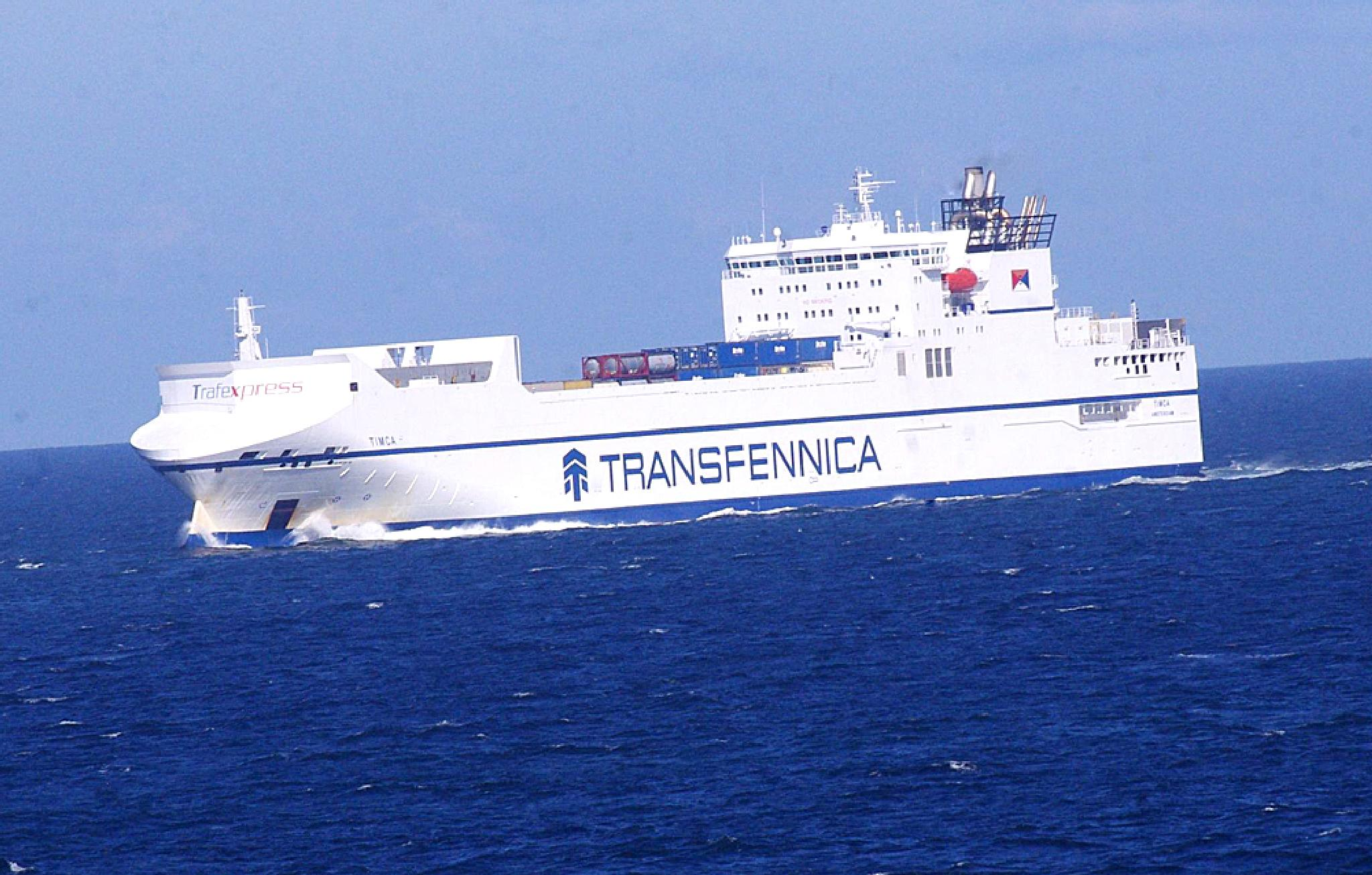 Baltic Sea Transfennica RO-RO Ferry 'Timca' 17 July 2015 by Owen Smithers