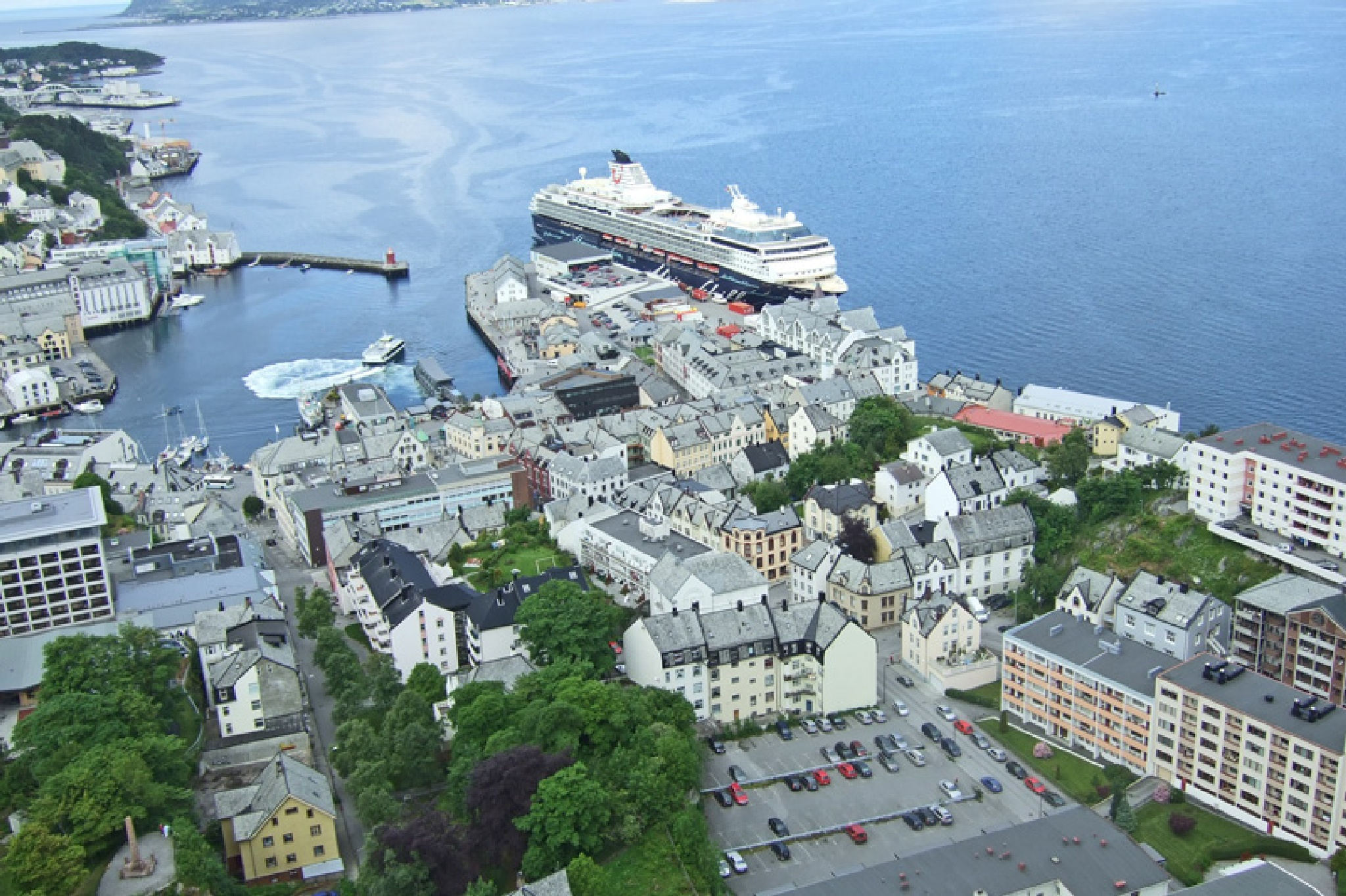 Alesund Norway view from the peak 1-1 July 2010 by Owen Smithers