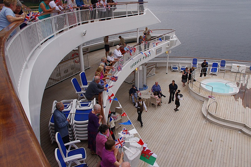 P & O Cruise Ships Tenth Birthday 3 July 2010 by Owen Smithers