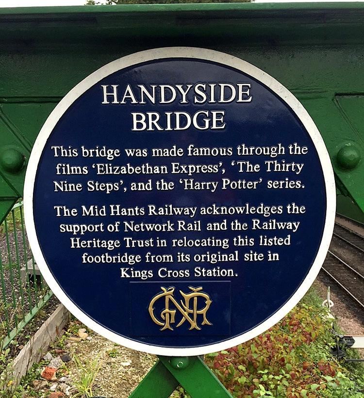 Mid Hants Heritage Railway Handyside Bridge Plaque 28 September 2016 by Owen Smithers