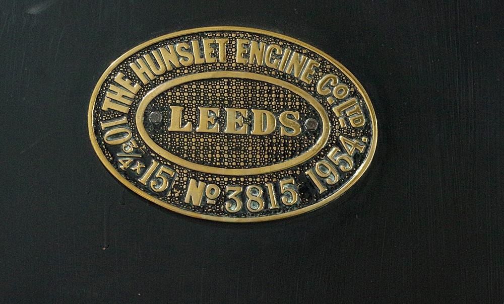 NRM Shildon Hunslet Class 3815 Makers plate 10 September 2016 by Owen Smithers