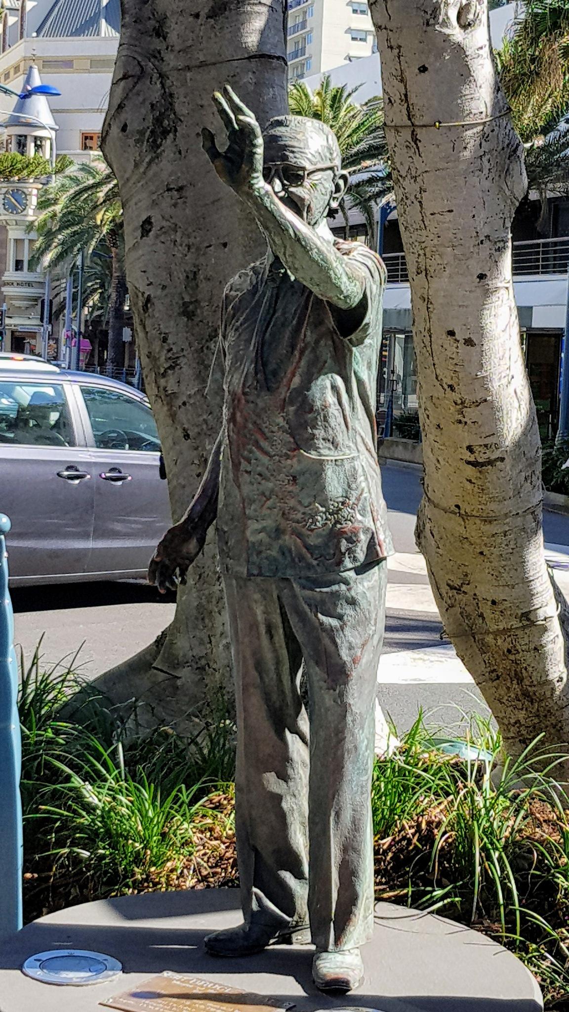 Old man waving by Michael De St Pern