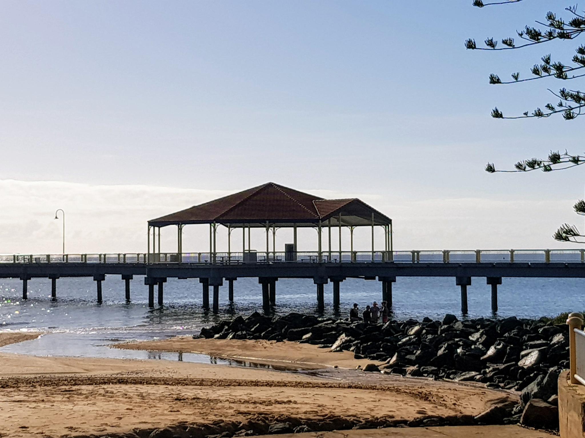 Redcliffe jetty.  by Michael De St Pern