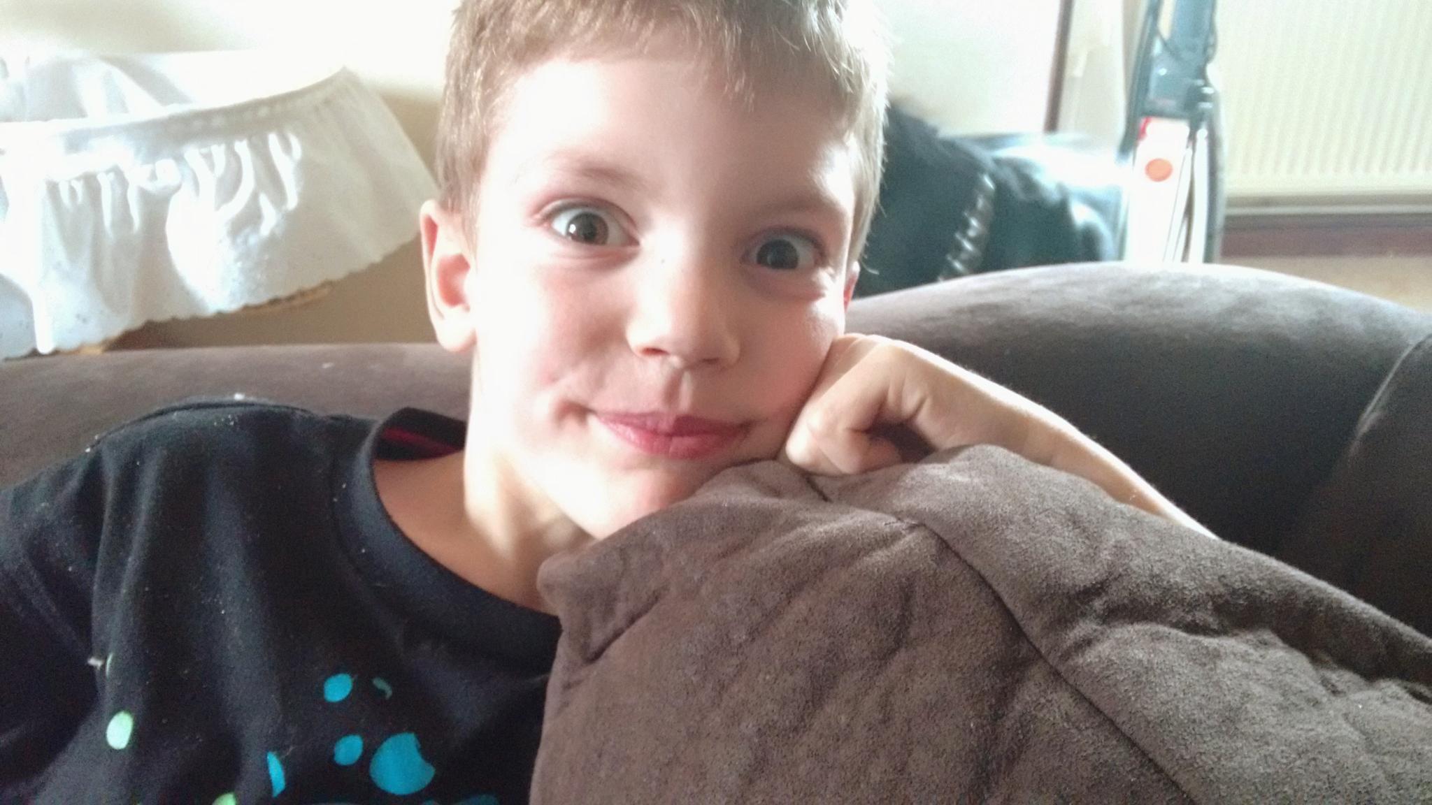 My gorgeous eldest grandson Lewis by Maxine