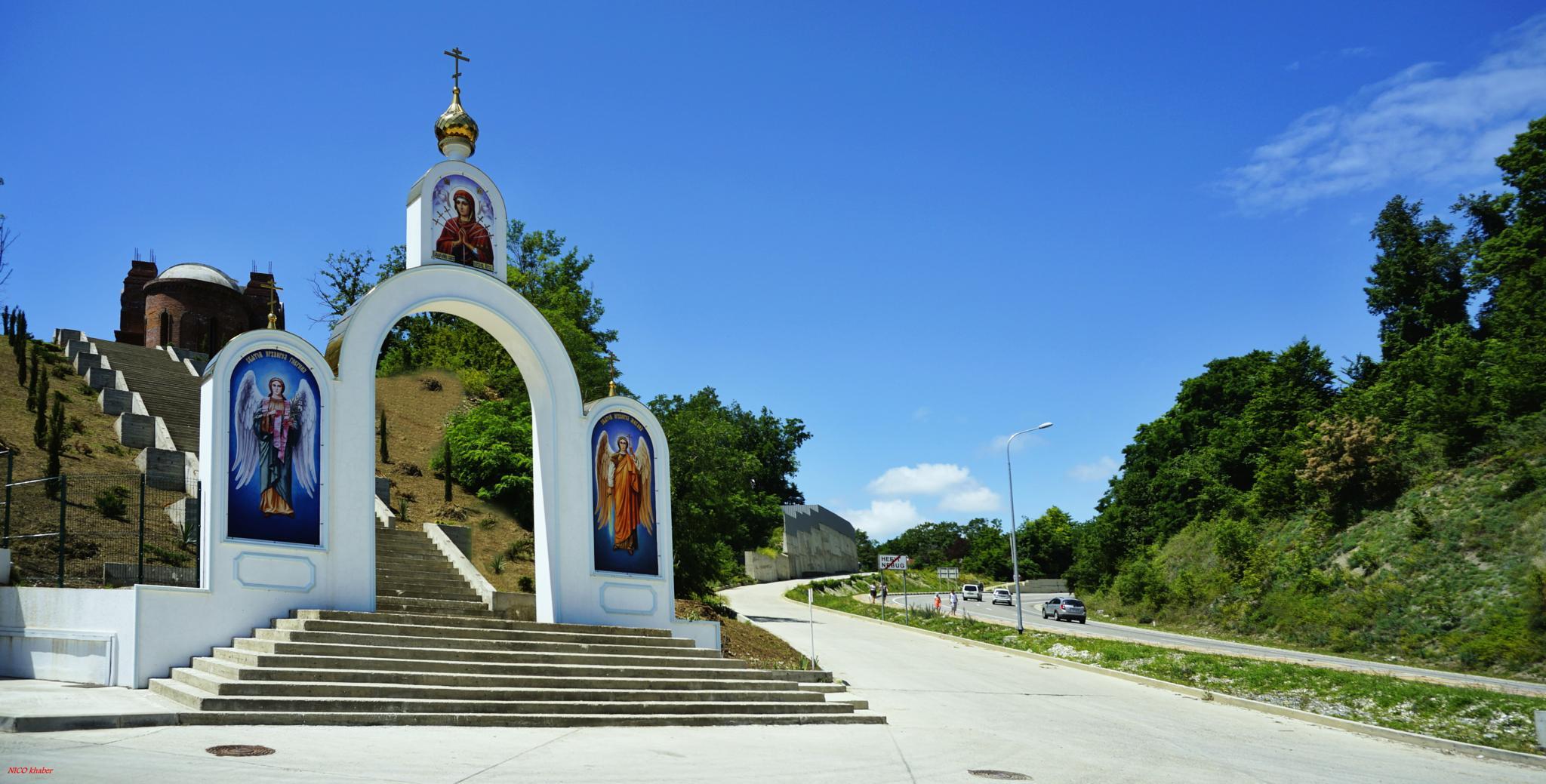 "Gates parish of Our Lady of ""Softener of Evil Hearts"" Nebug / Tuapse district / by hlabistin.nick"