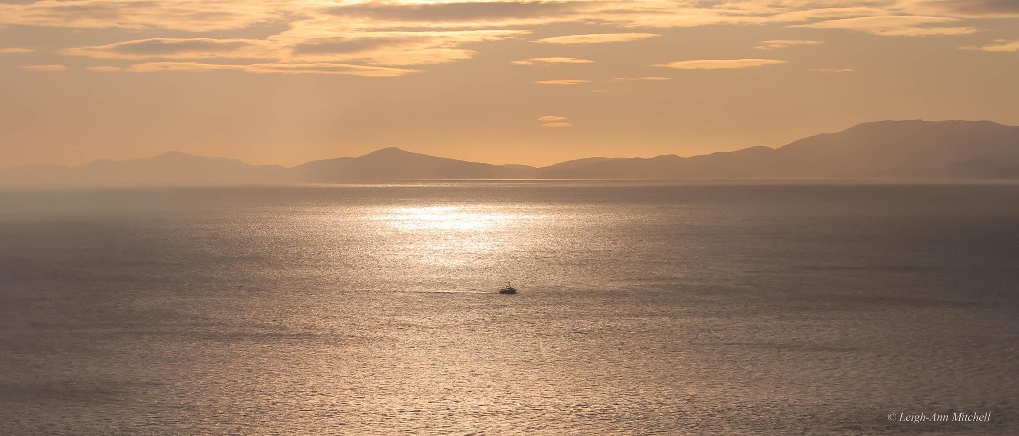 On the ocean by Leigh-Ann Mitchell