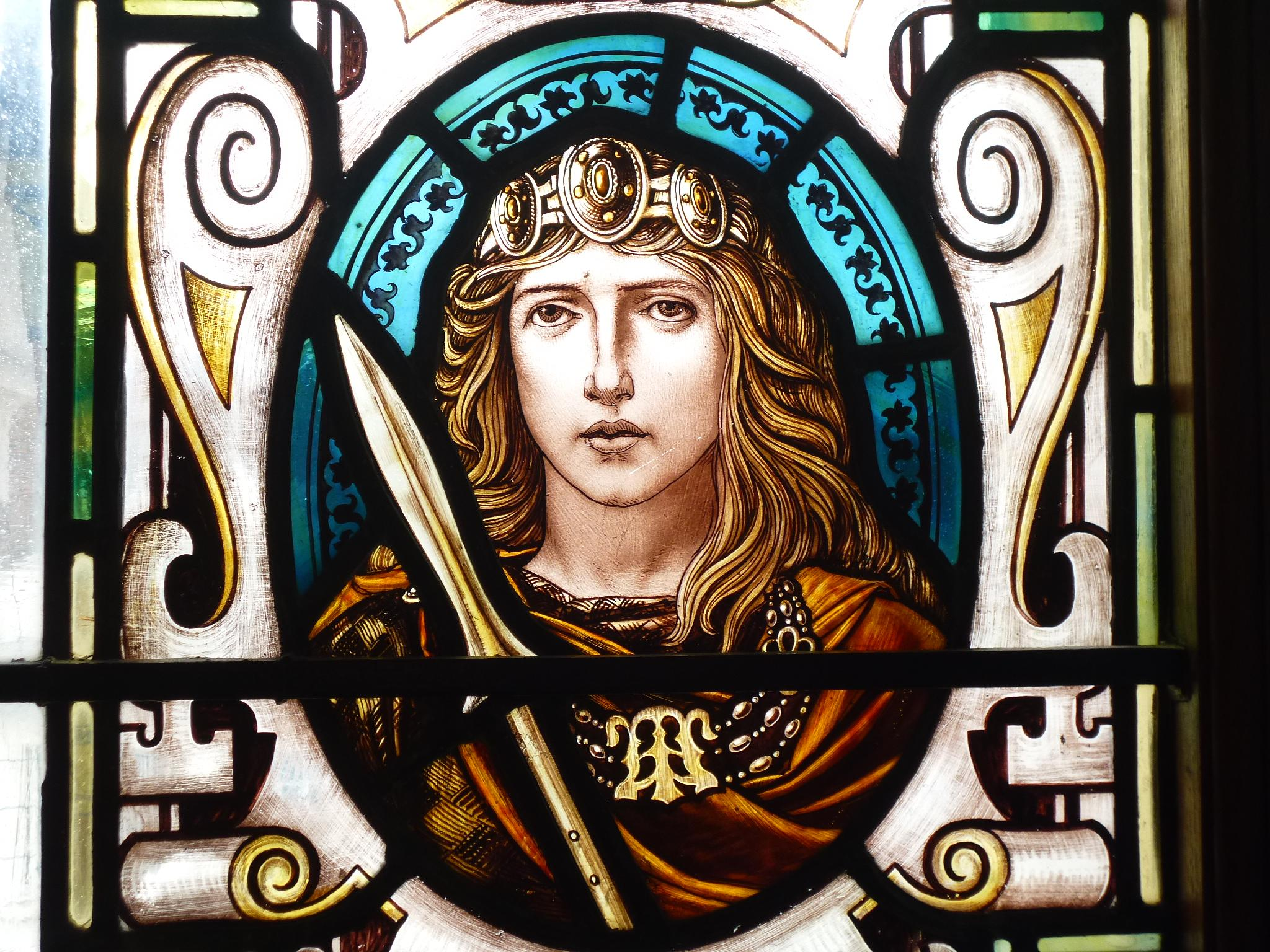 Boudica Stained Glass indow by Alice Goss