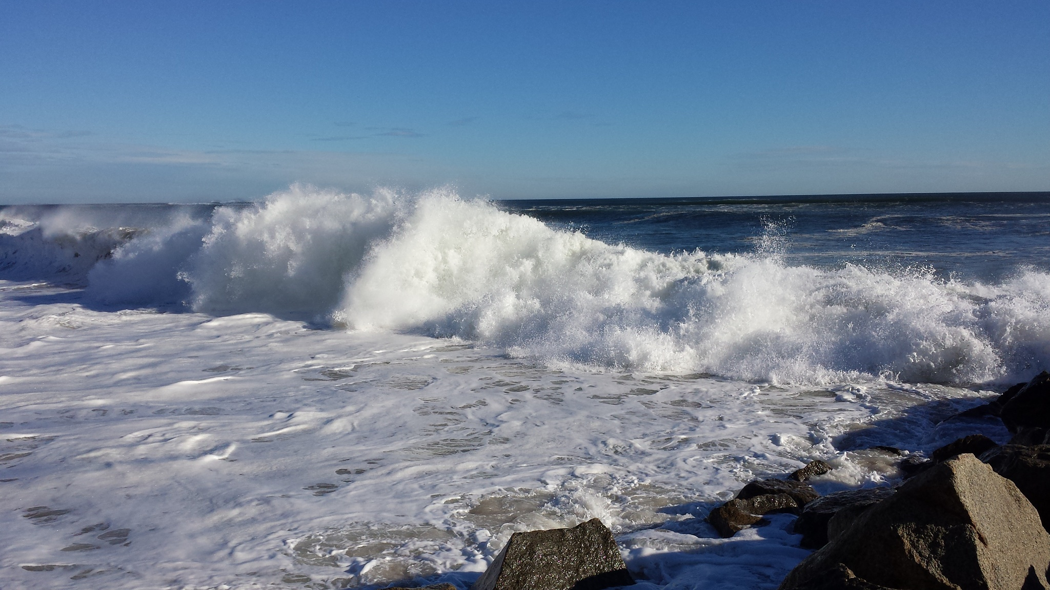 Thirty Foot High Waves... by Cary J.Casse
