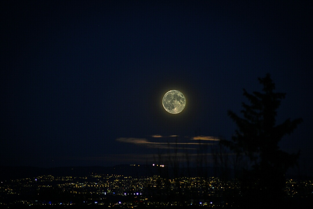 SuperMoon over Asker in Norway  by Peer