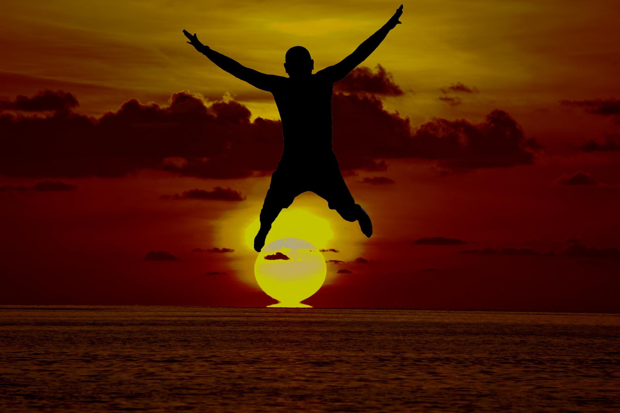 Sunset jump by BobGillatt