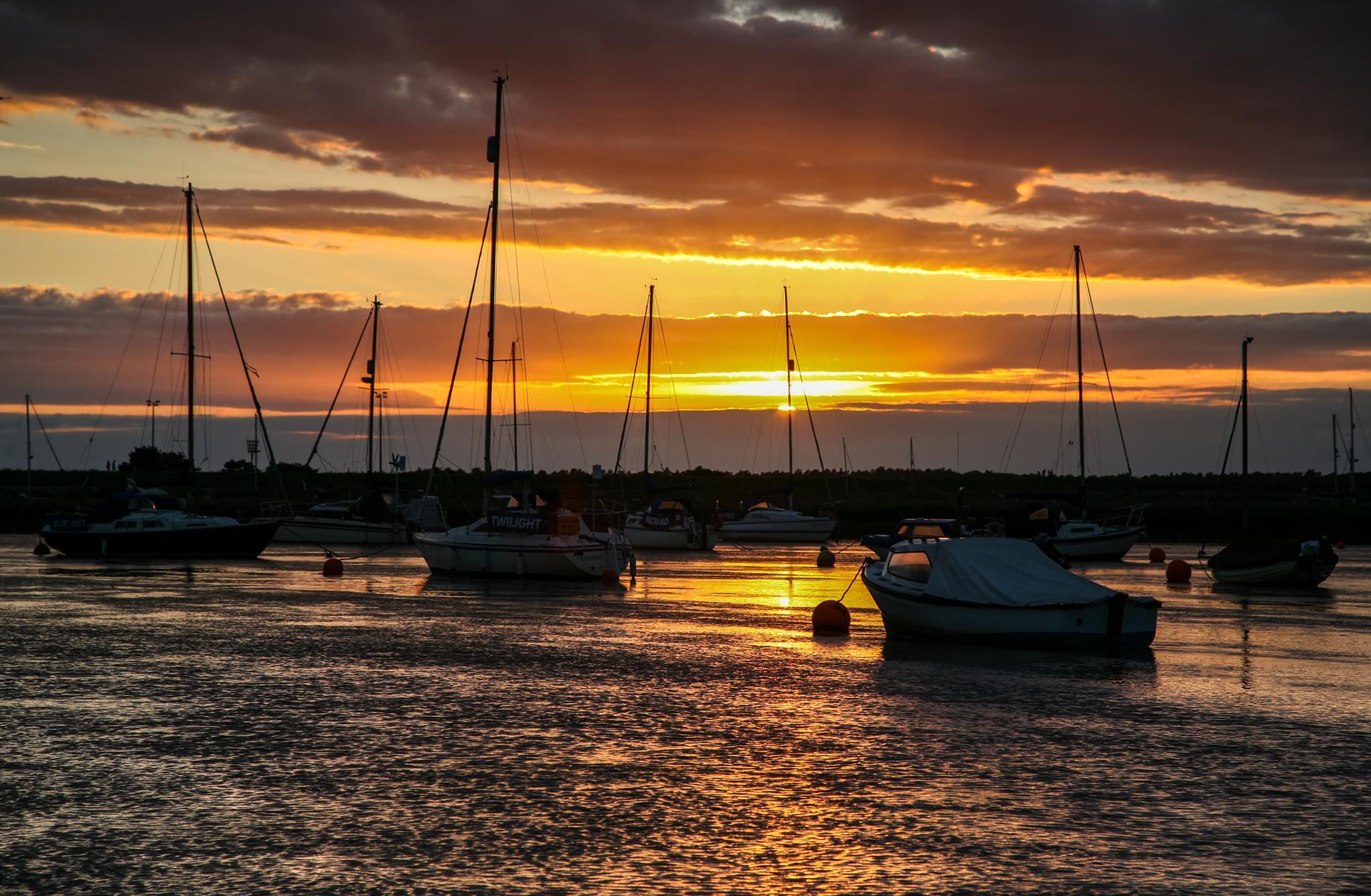 Norfolk Sunset by daveangood