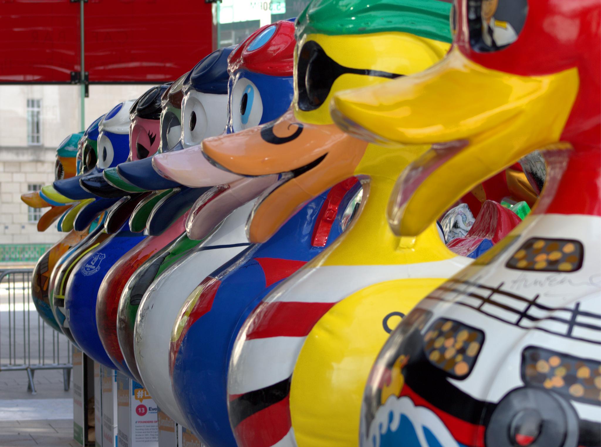 Liverpool DuckTrail - Quack-attention by Marjorie H Morgan