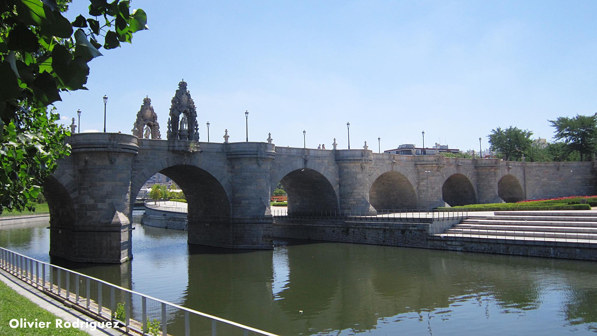 Puente sobre el río Manzanares, Madrid. by Olivier Rodriguez