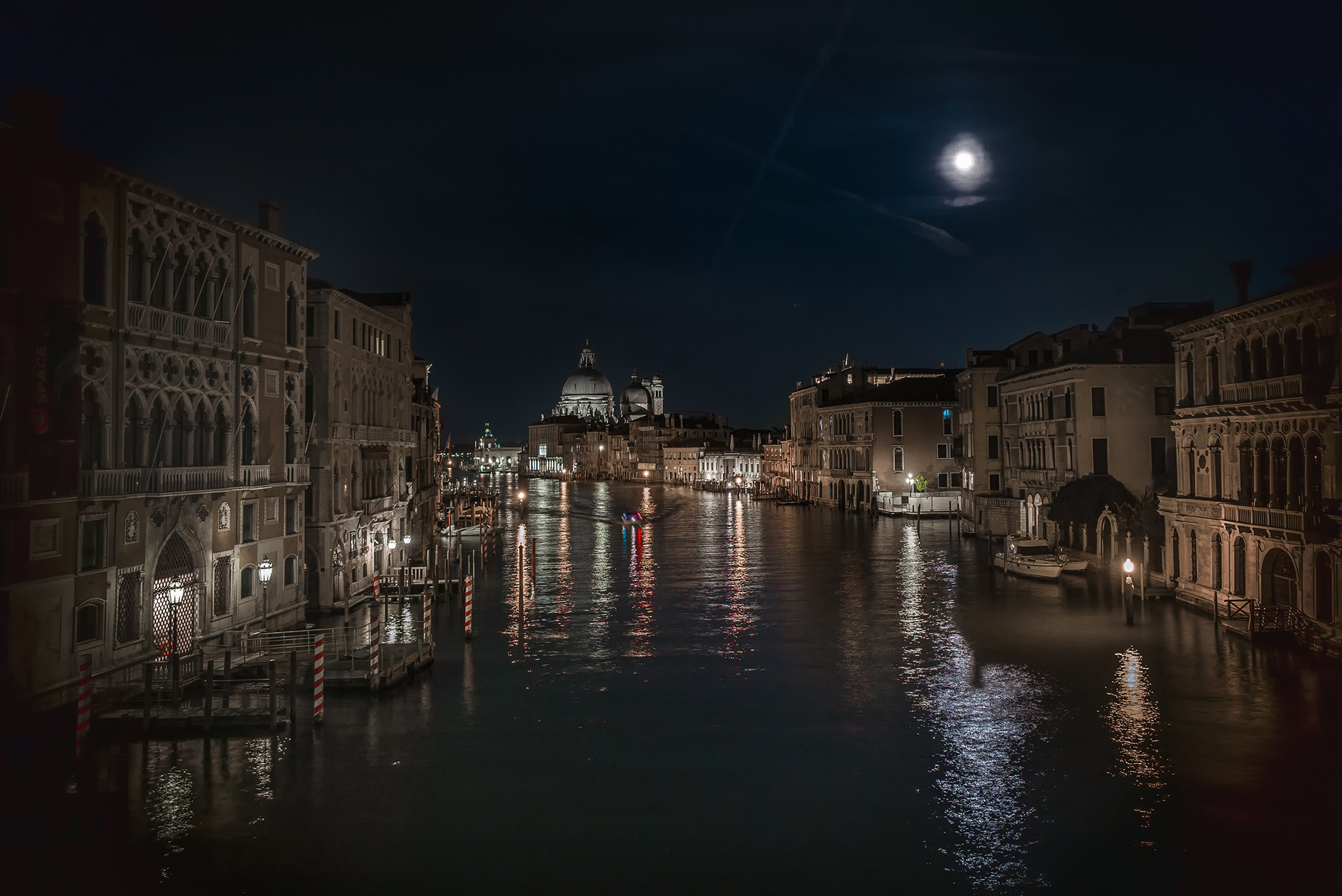 Moonlit Night on the Canal Grande - Venezia, Italy by Sean Sweeney