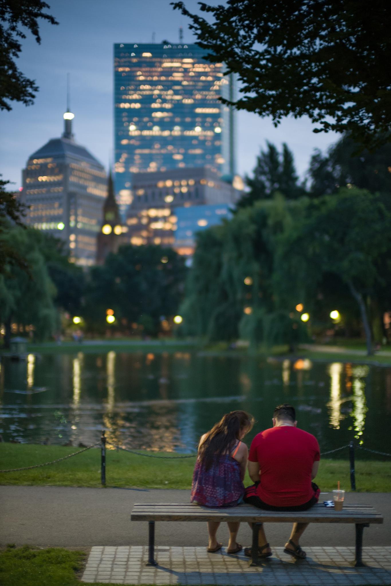 Summertime Twilight - Boston Public Garden, Boston, MA by Sean Sweeney