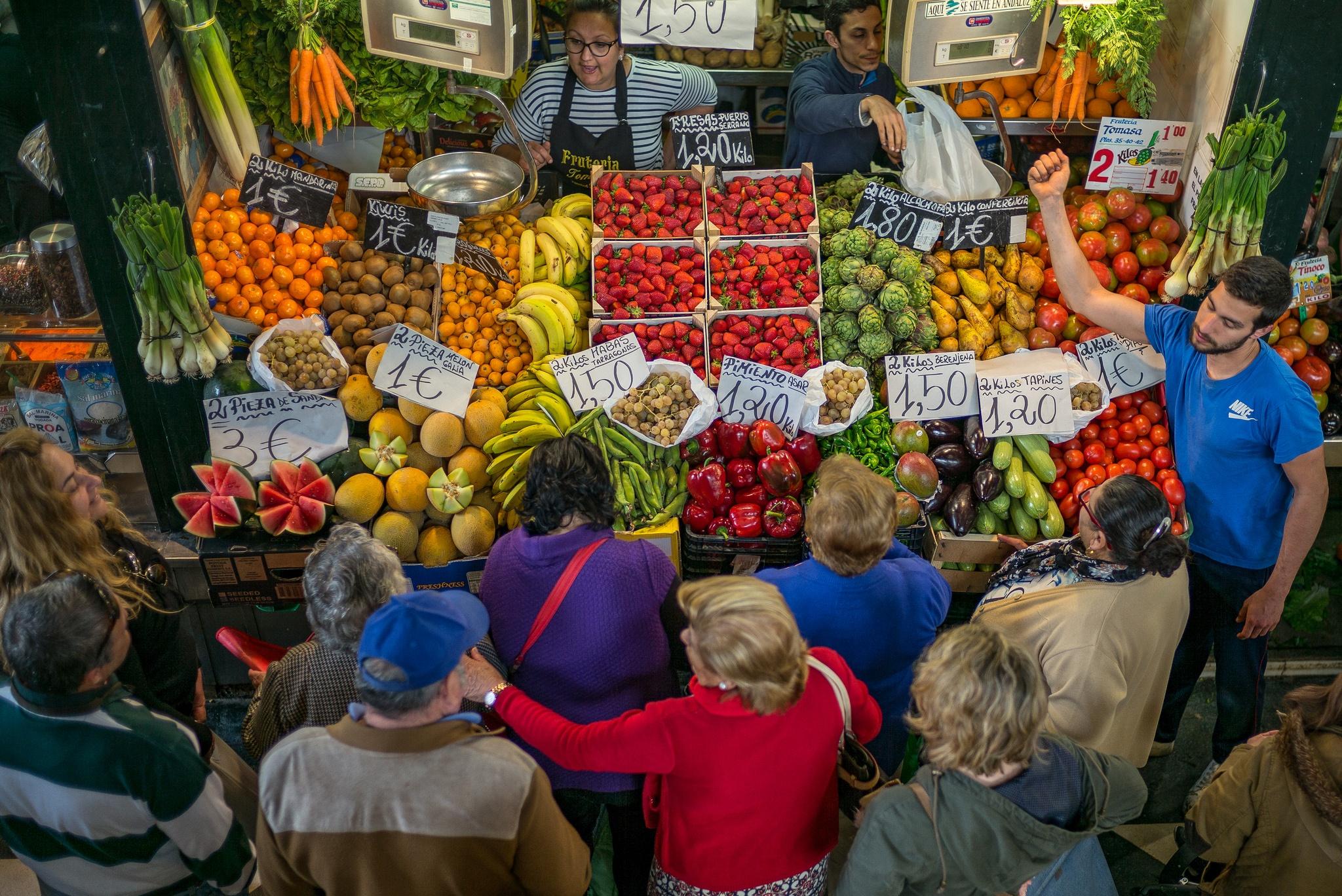 Produce Market - Jerez de la Frontera, Spain by Sean Sweeney