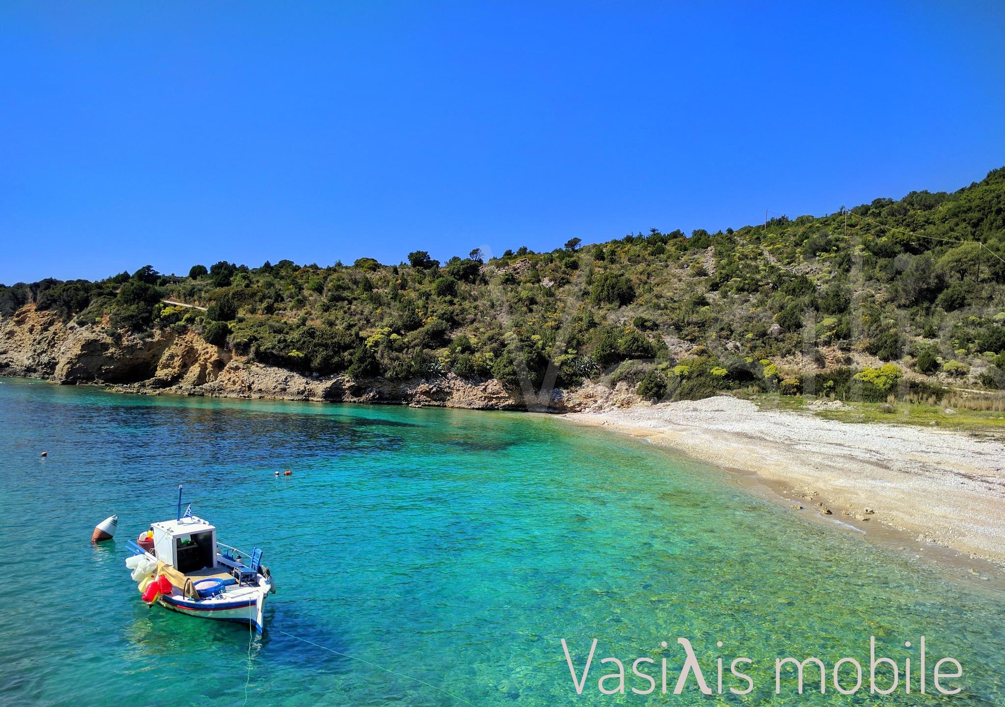 Beach in the spring by vasilis fragiskatos