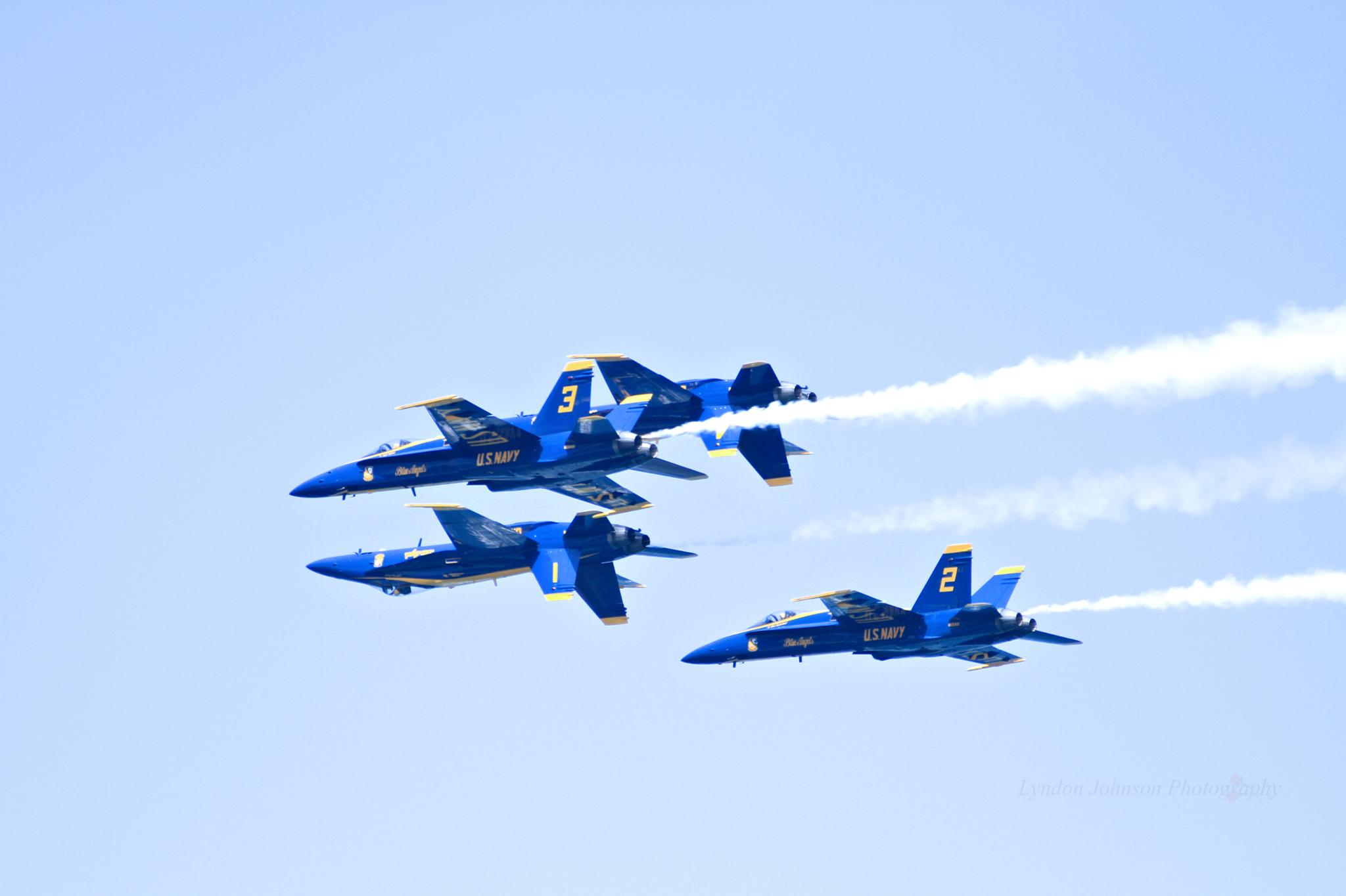 Blue Angels over Chicago by Lyndon Johnson