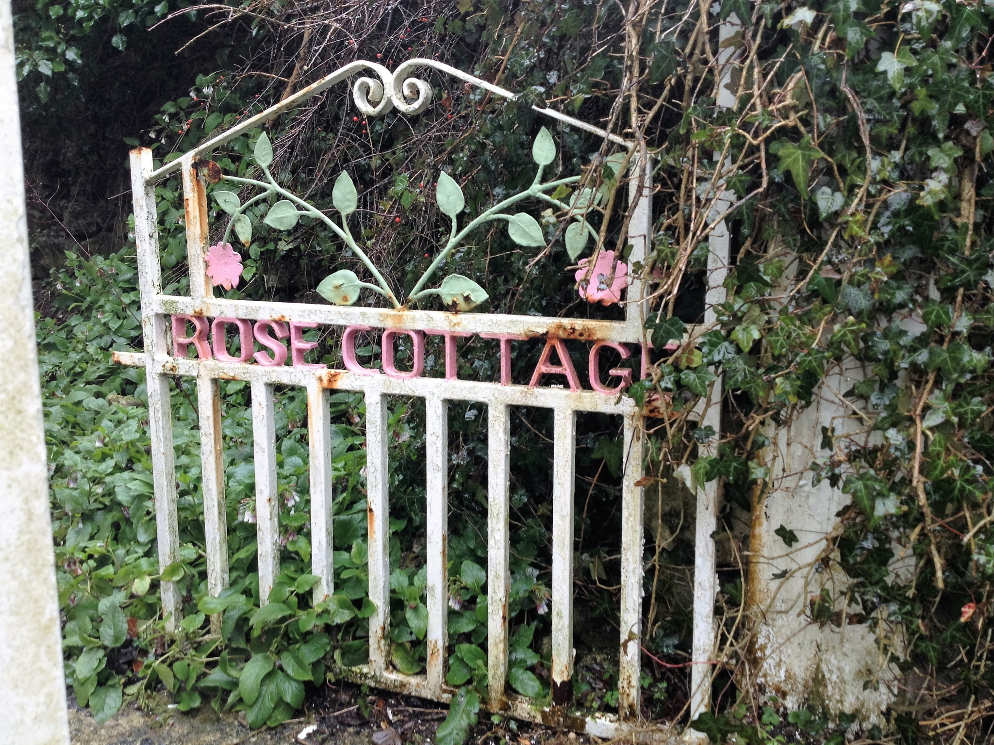 Cottage Gate by Bev Hynes