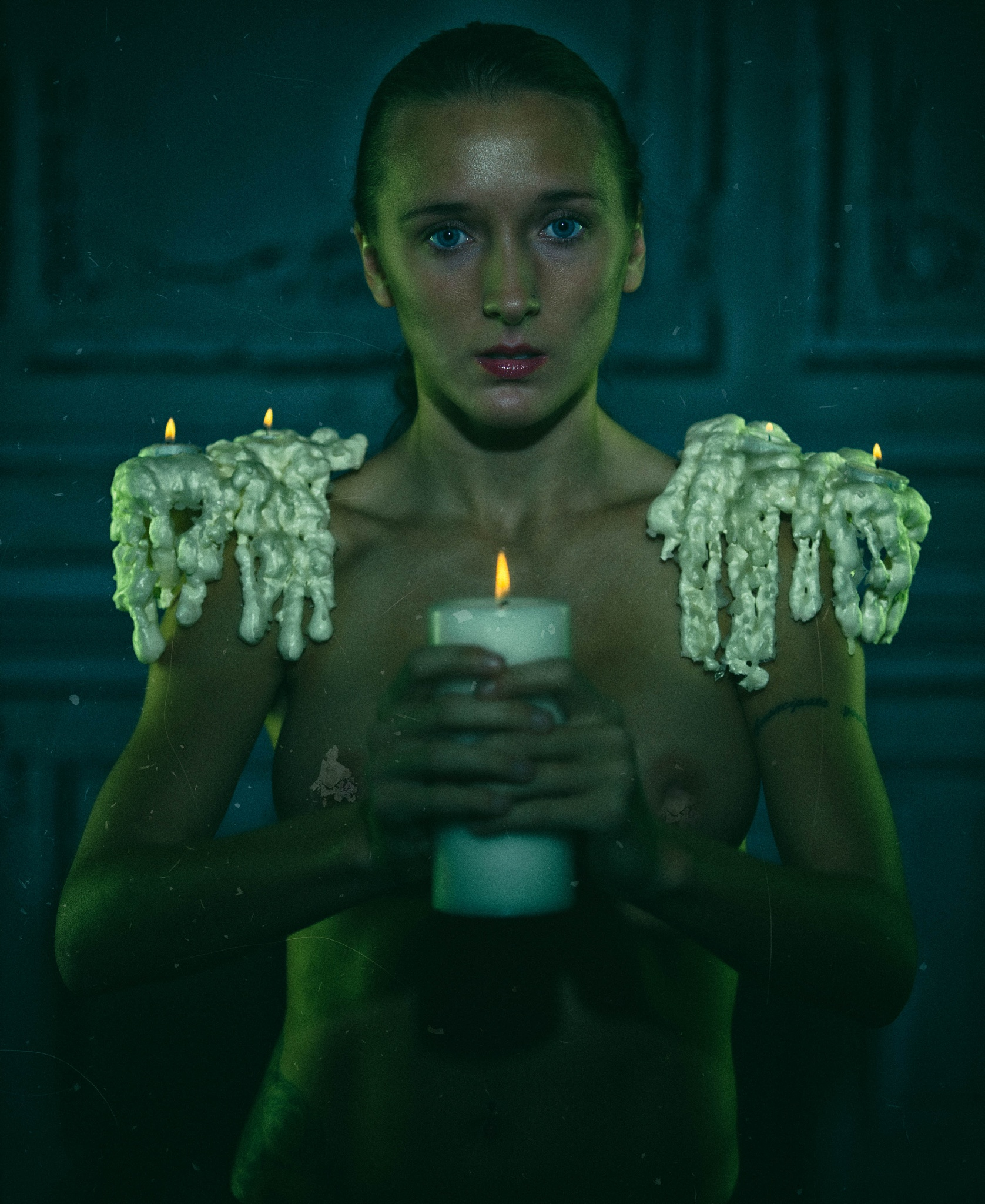 Goddess by candle light by Joseph Harrison