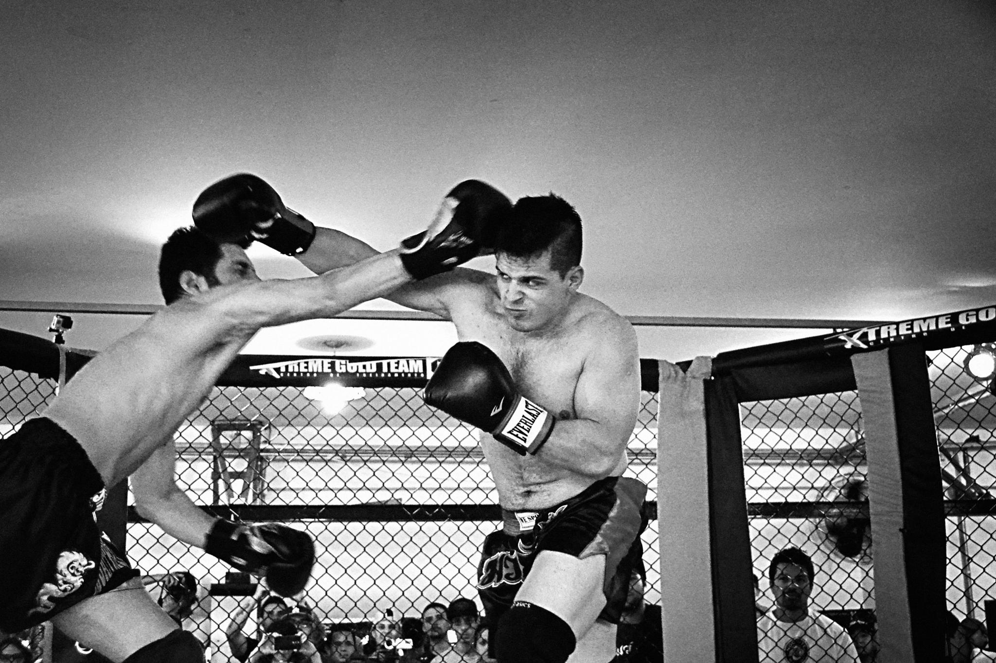 Photo in Sports #muai thay #black and white #boxing