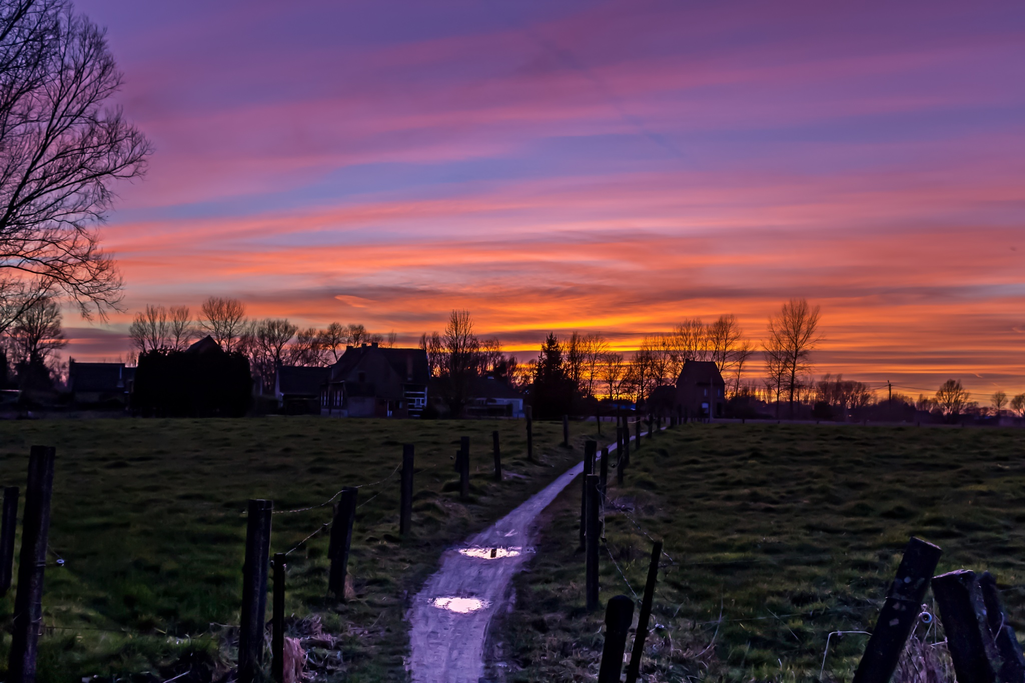 a winter sunset by matthewlawes123