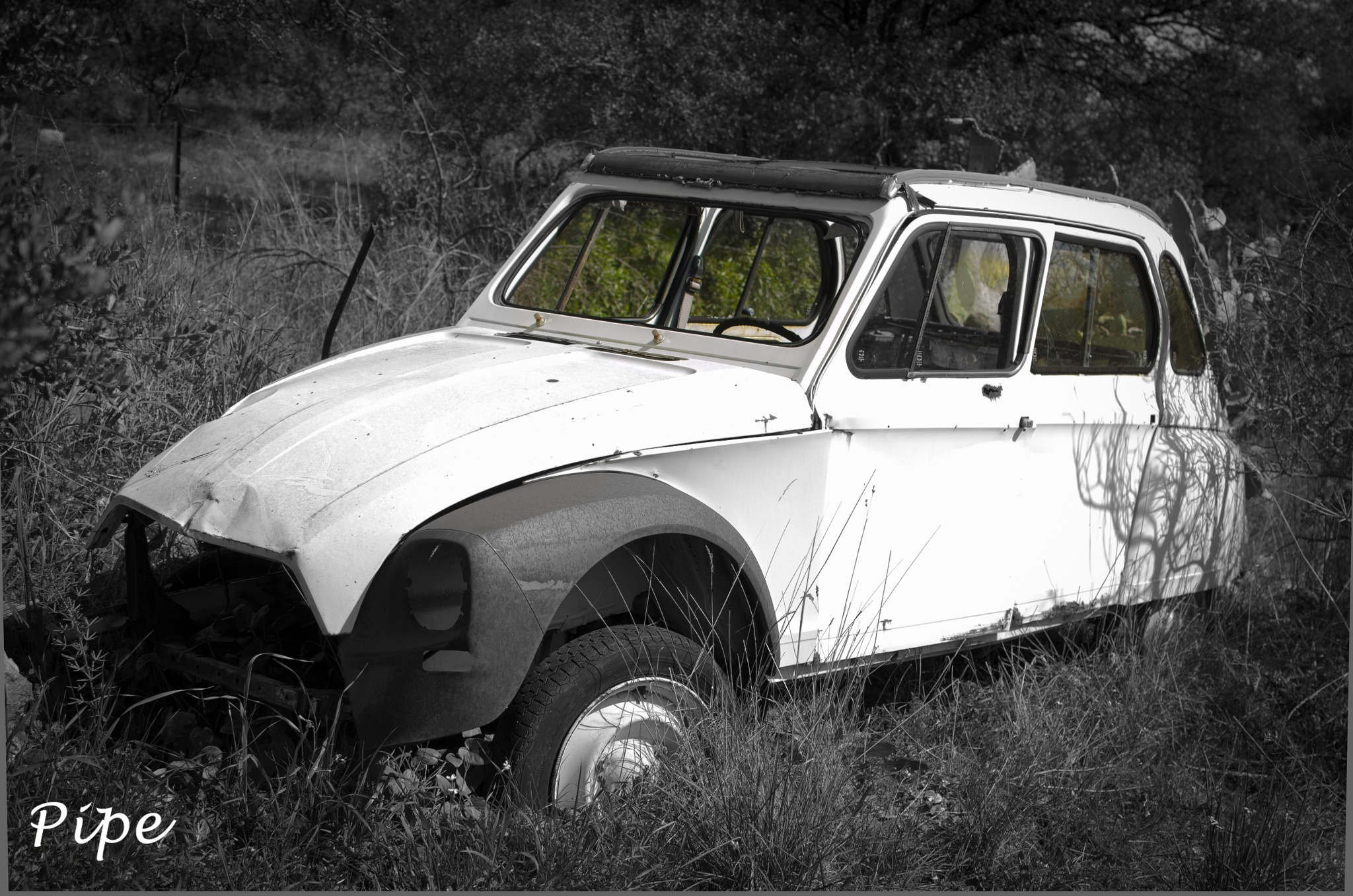 Photo in Random #abandoned #car #old #dirty