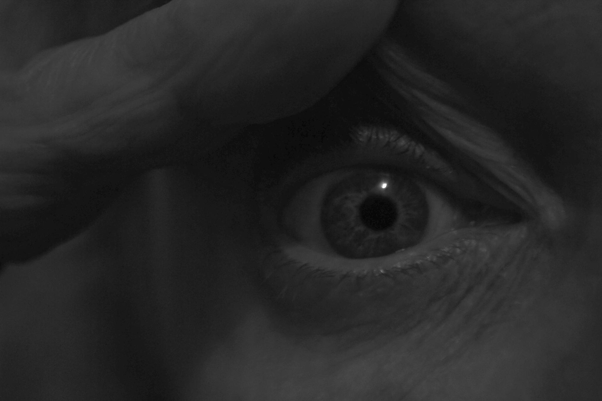 black and white eye by Lilly Gilovitz