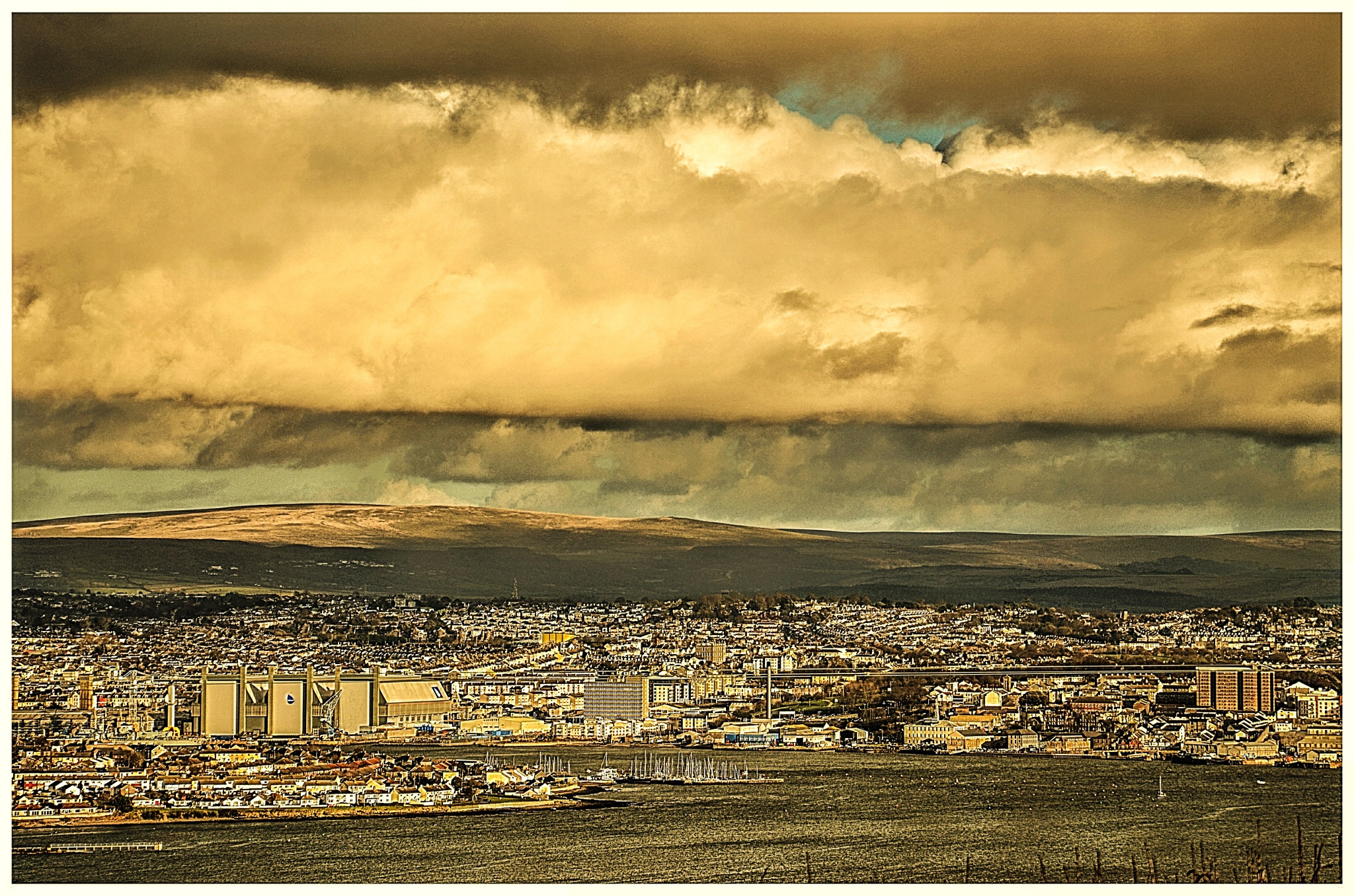 Cloud over Plymouth by johncedriccoles123