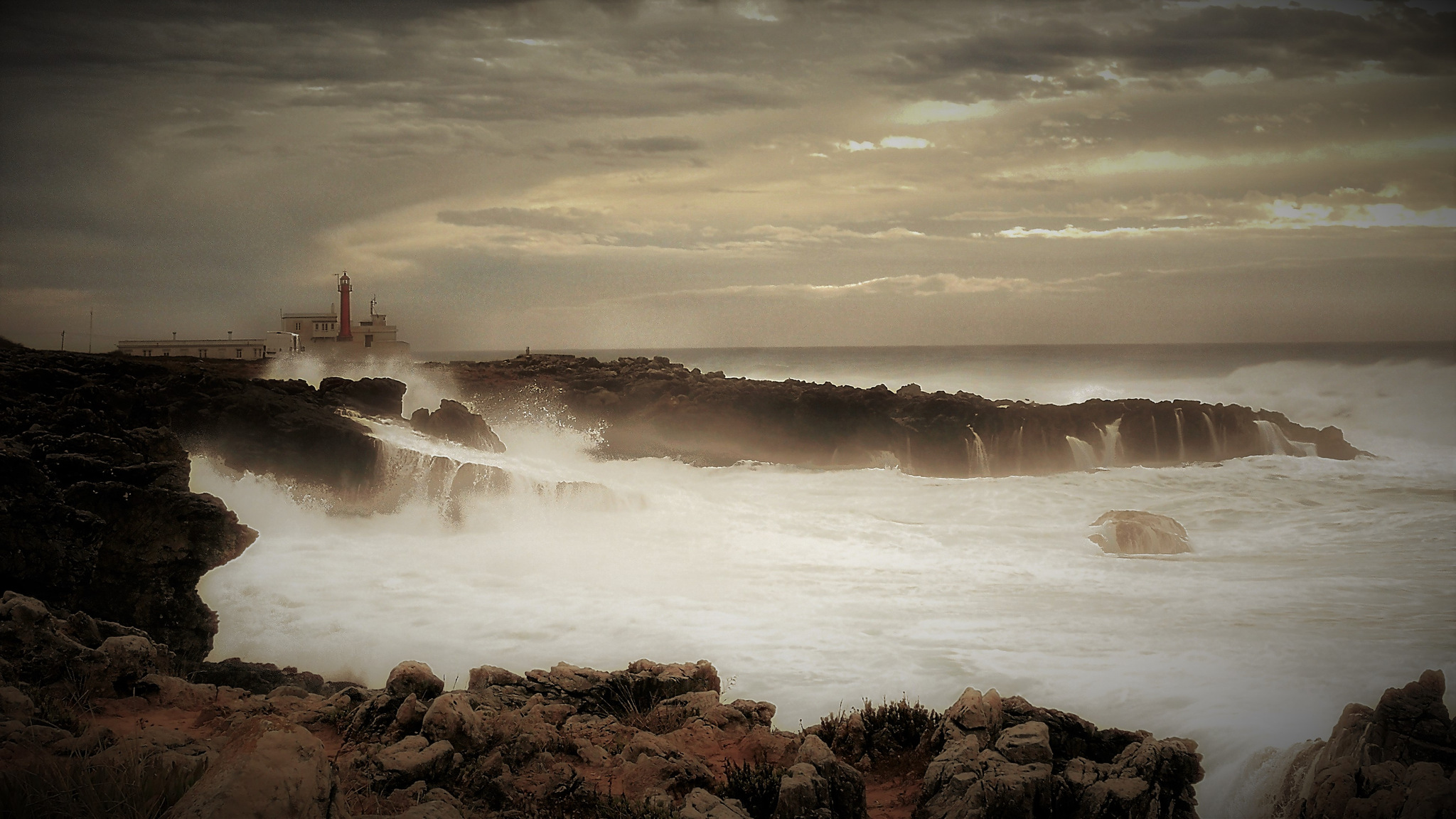 Photo in Landscape #cape #smartphone #cascais #portugal #sea #clouds #sky #water #waves