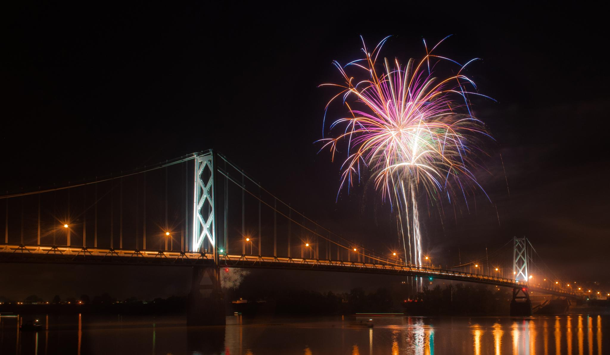 Fire On The Bridge by photojam2014