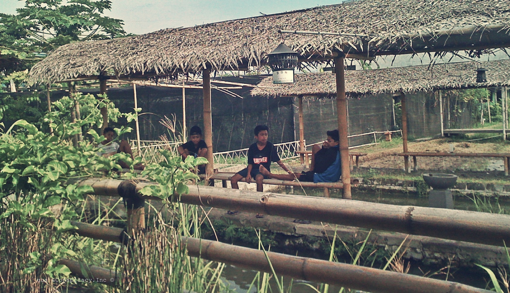 The Art Of Waiting, Balinese Kids at Farm by gus &Conspiracy.Inc