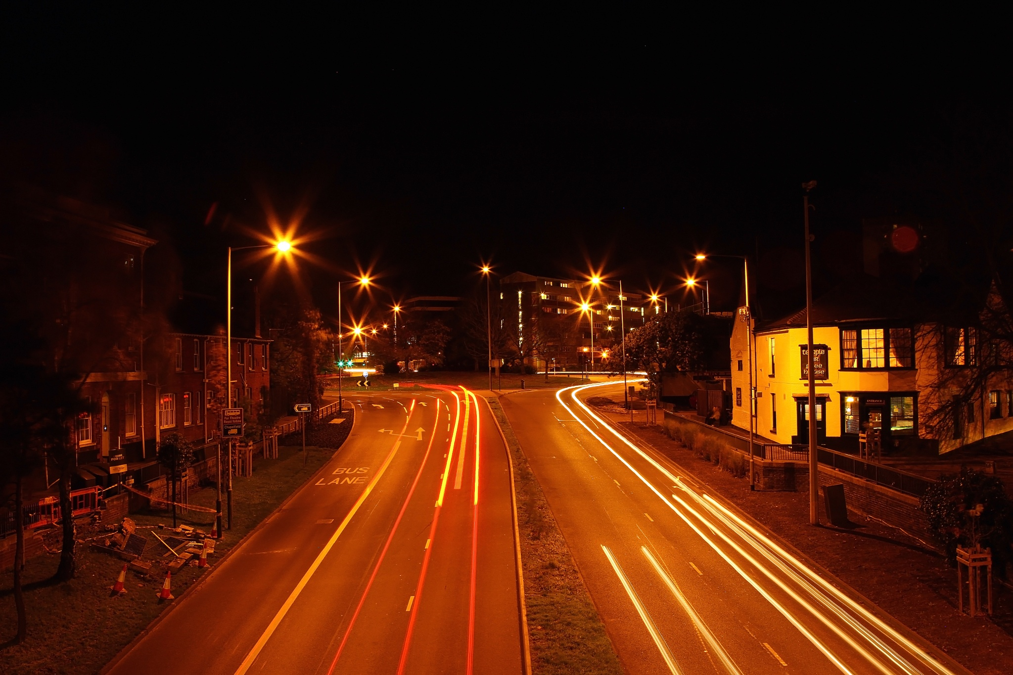 Light trails grapes hill norwich part 2 by Marie Thorne