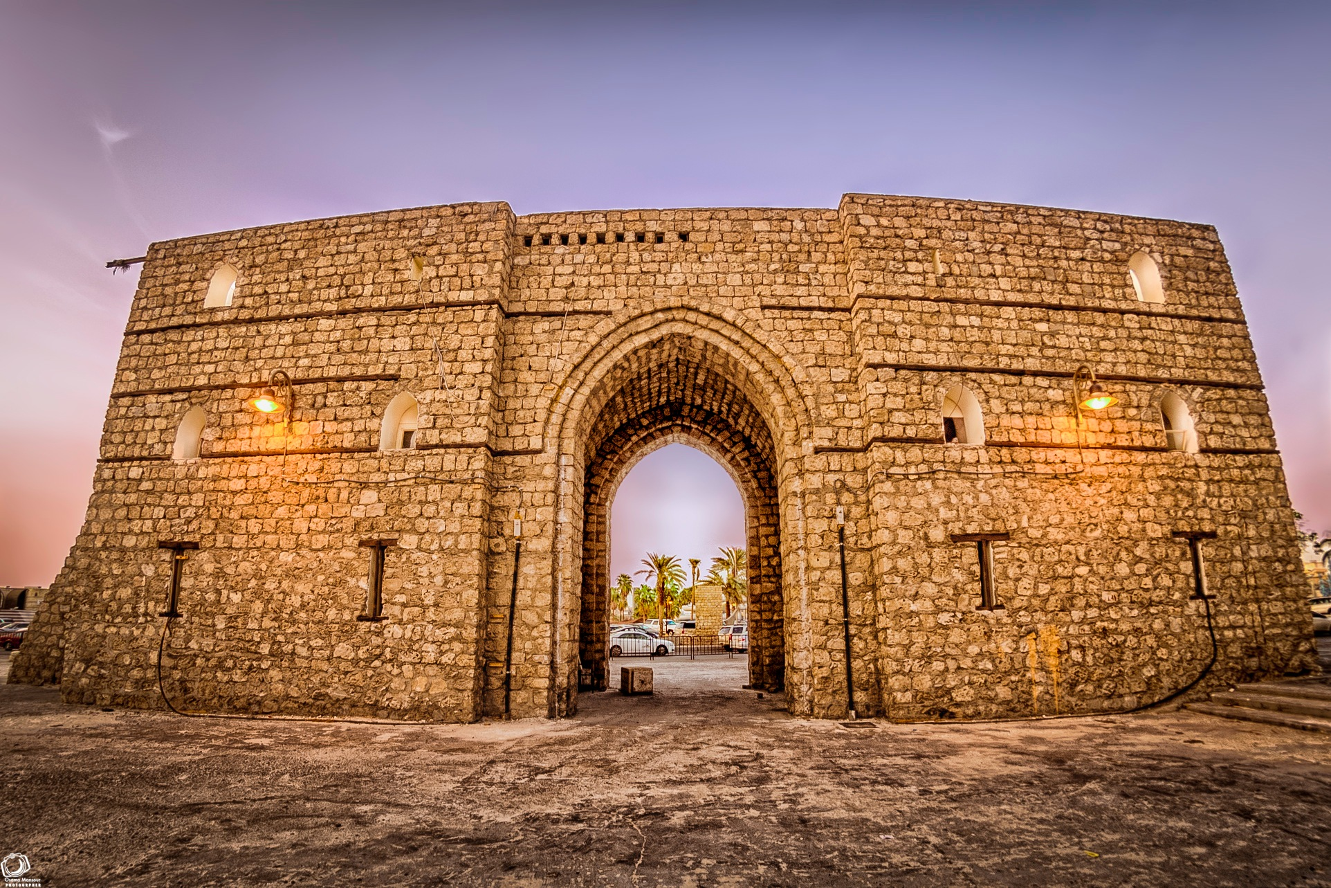 Door of old city by Osama Mansour