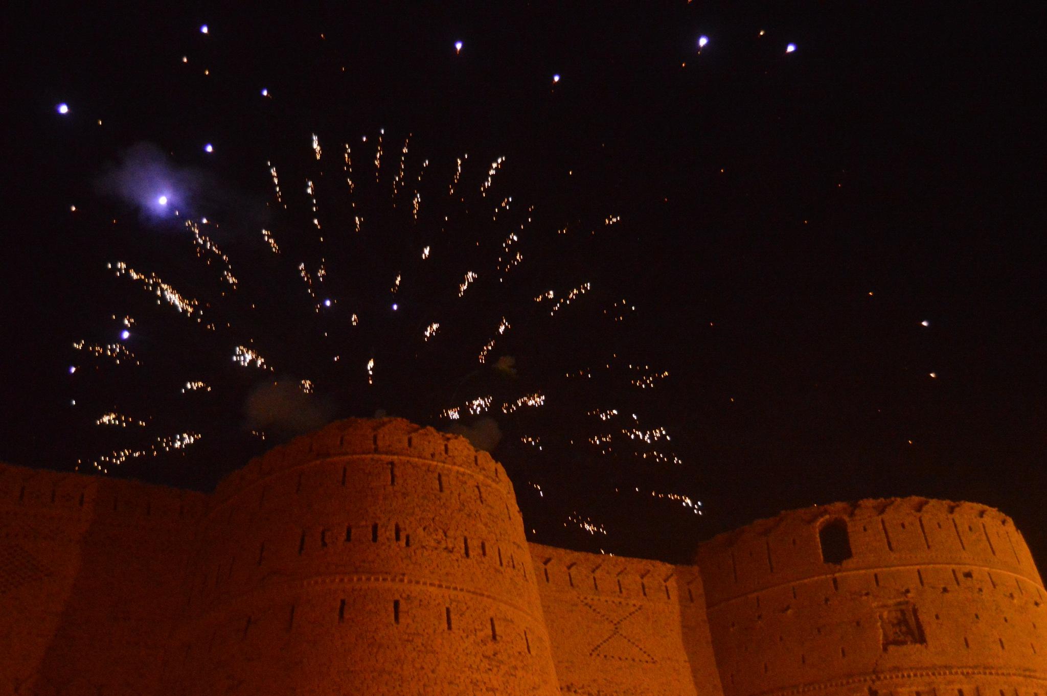 Fire Wort at Derawar Fort, Cholistan Desert, Bahawalpur, Pakistan. by pervaiz_jiu-jitsu