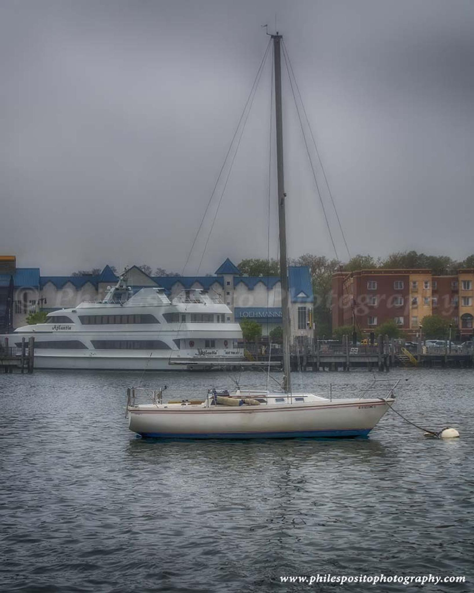 Wet Morning in Sheepshead Bay by Phil Esposito