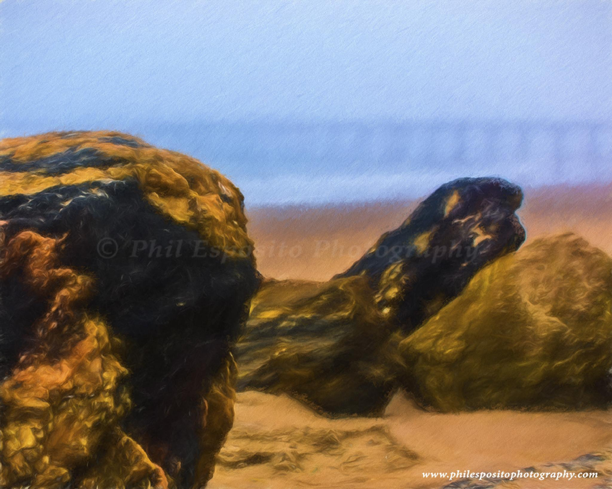 Lonely Beach II in oil by Phil Esposito