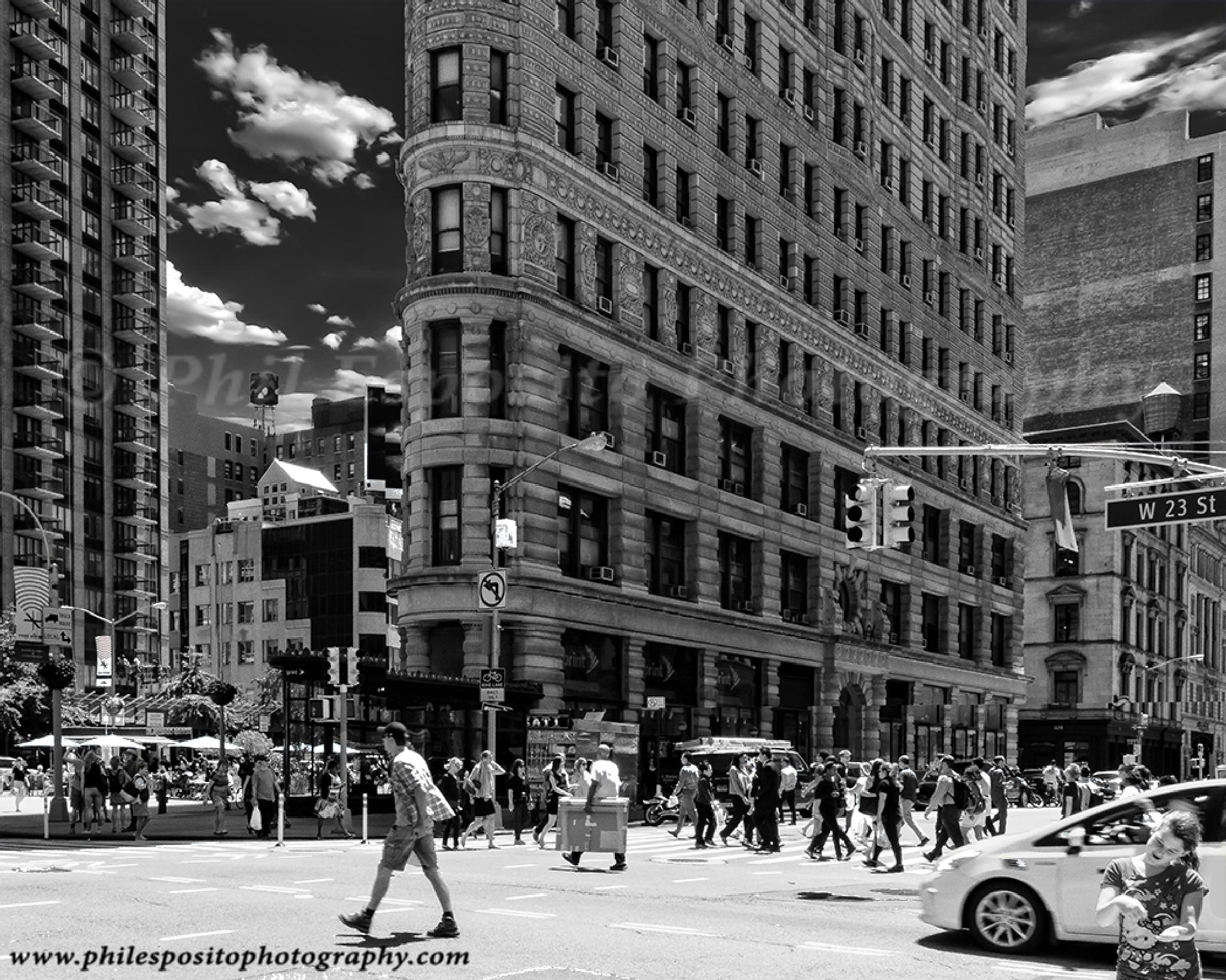 West 23 street on o summer's day by Phil Esposito