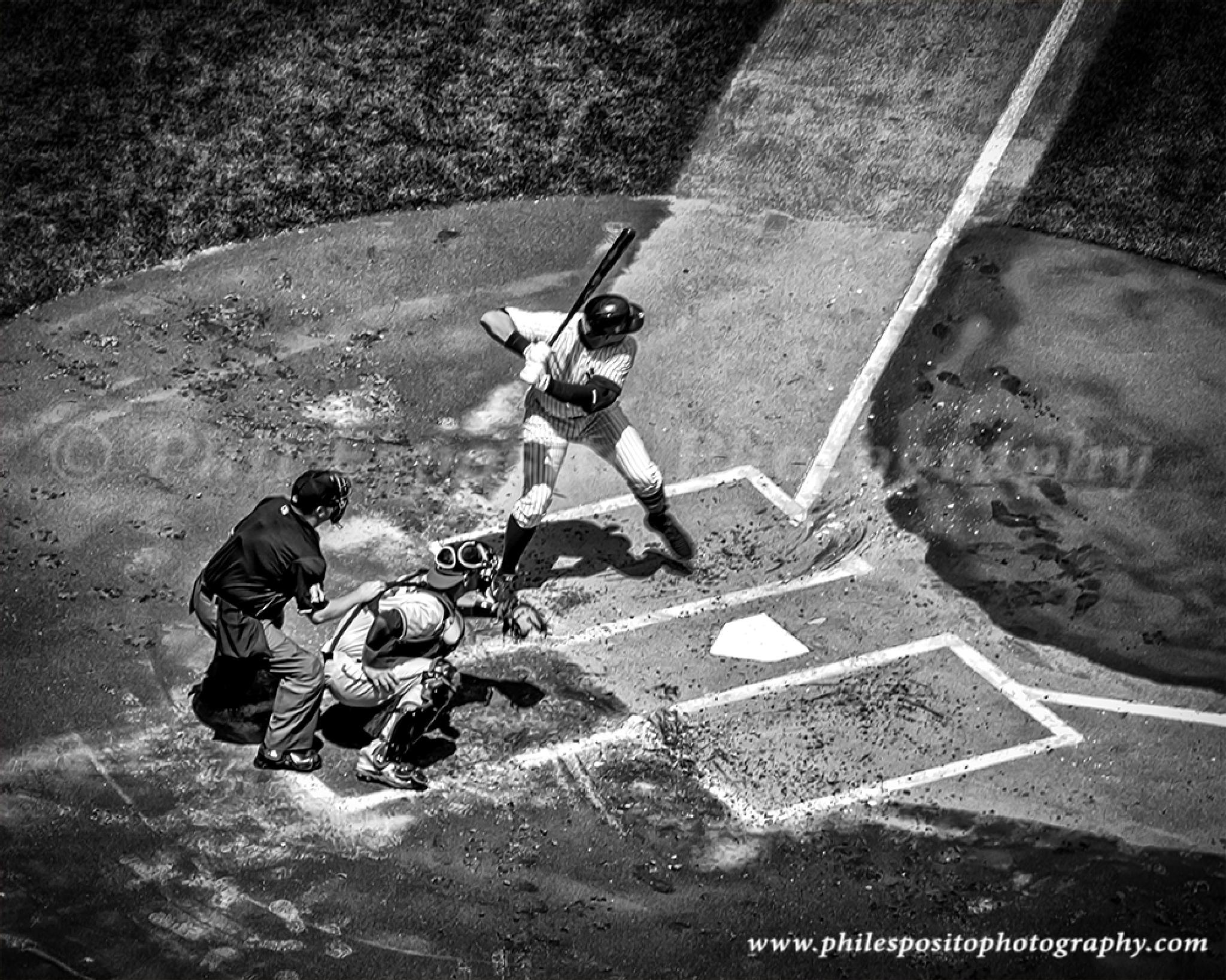 A Rod at the plate in B&W by Phil Esposito