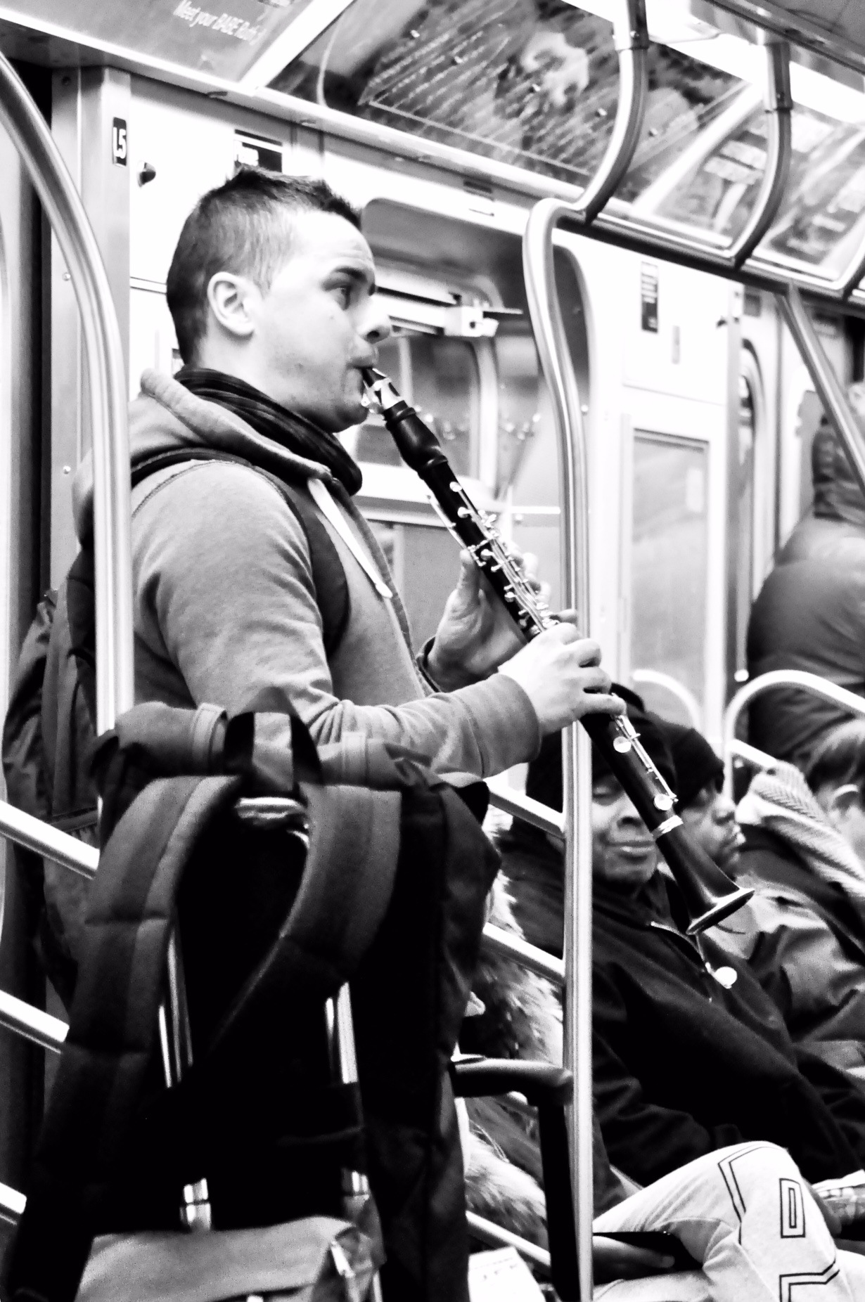 Music on the Subway NYC  by PFLphotography