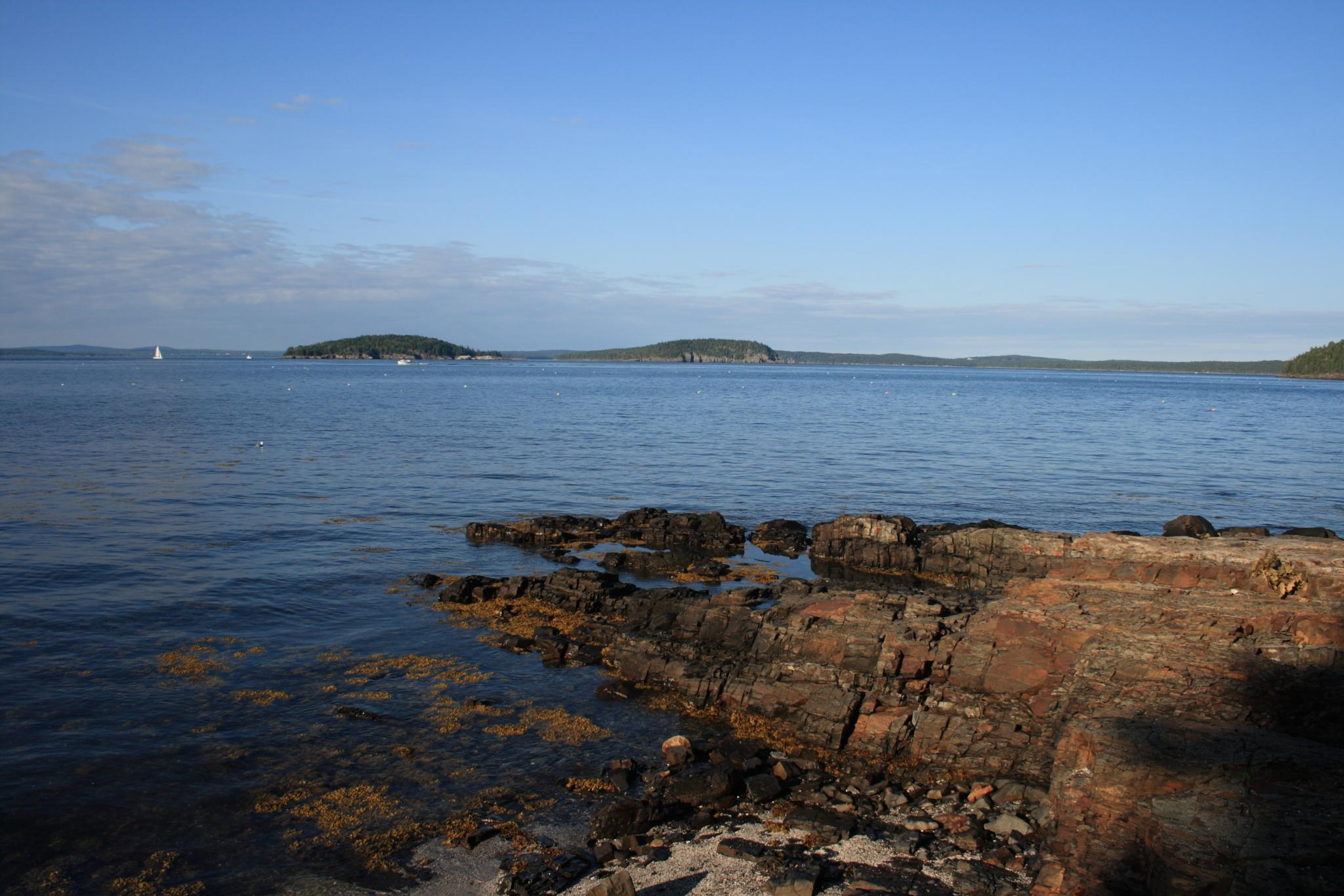 View from Bar Harbor by ed van hees