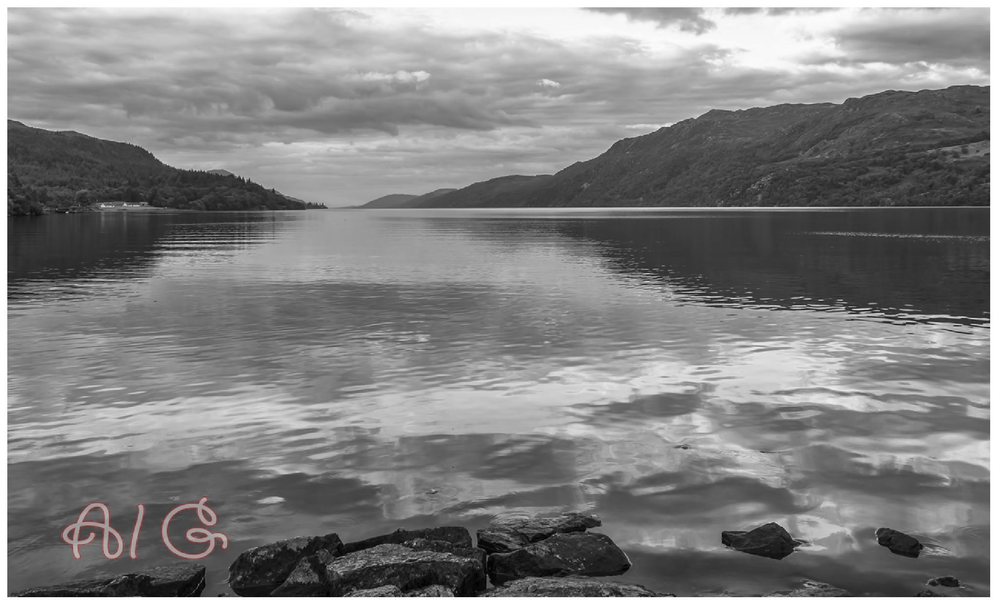 Photo in Landscape #black&white #soctland #lochs