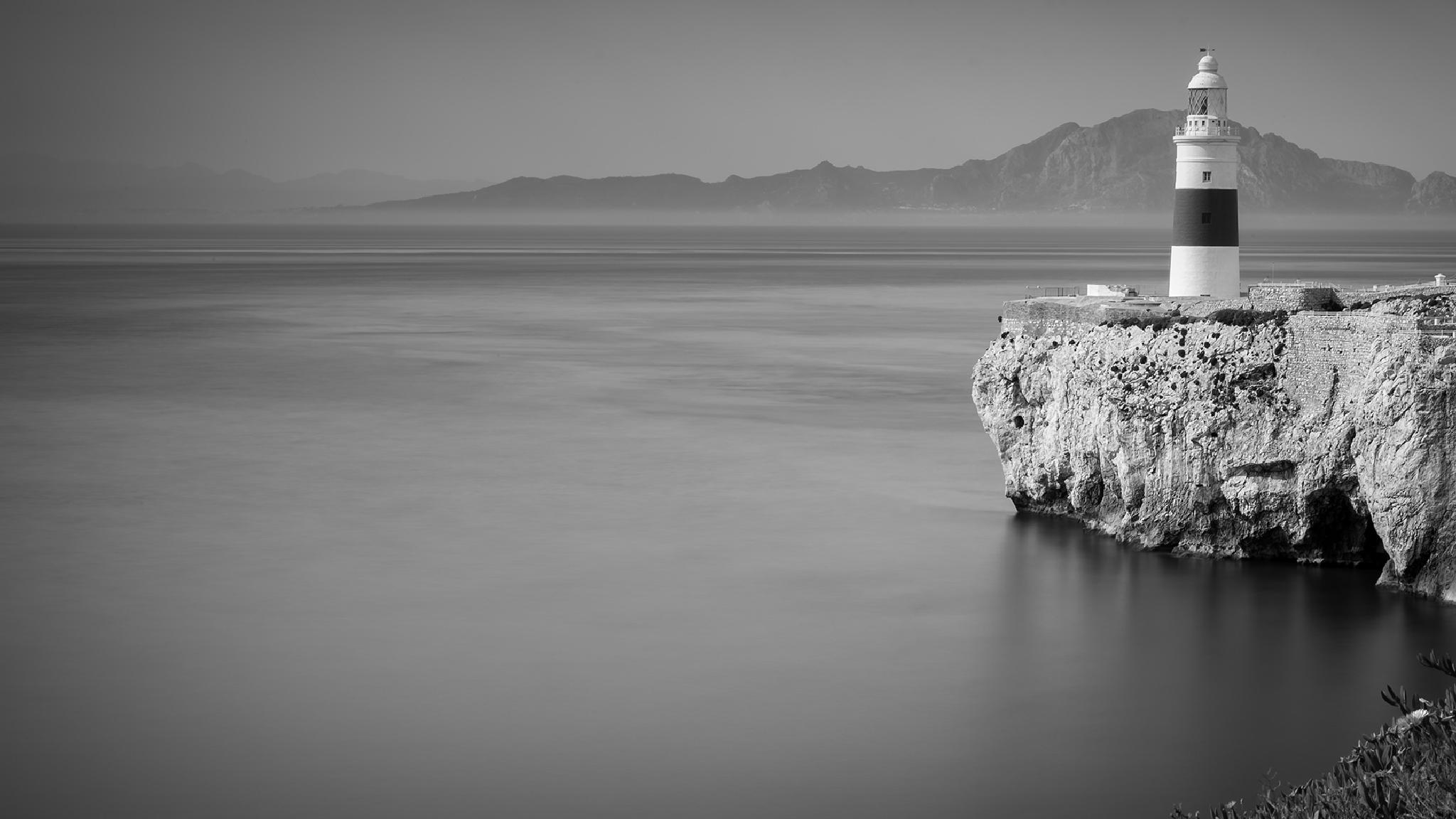 Photo in Black and White #lighthouse #trinity #gibraltar #straits #nikon #british