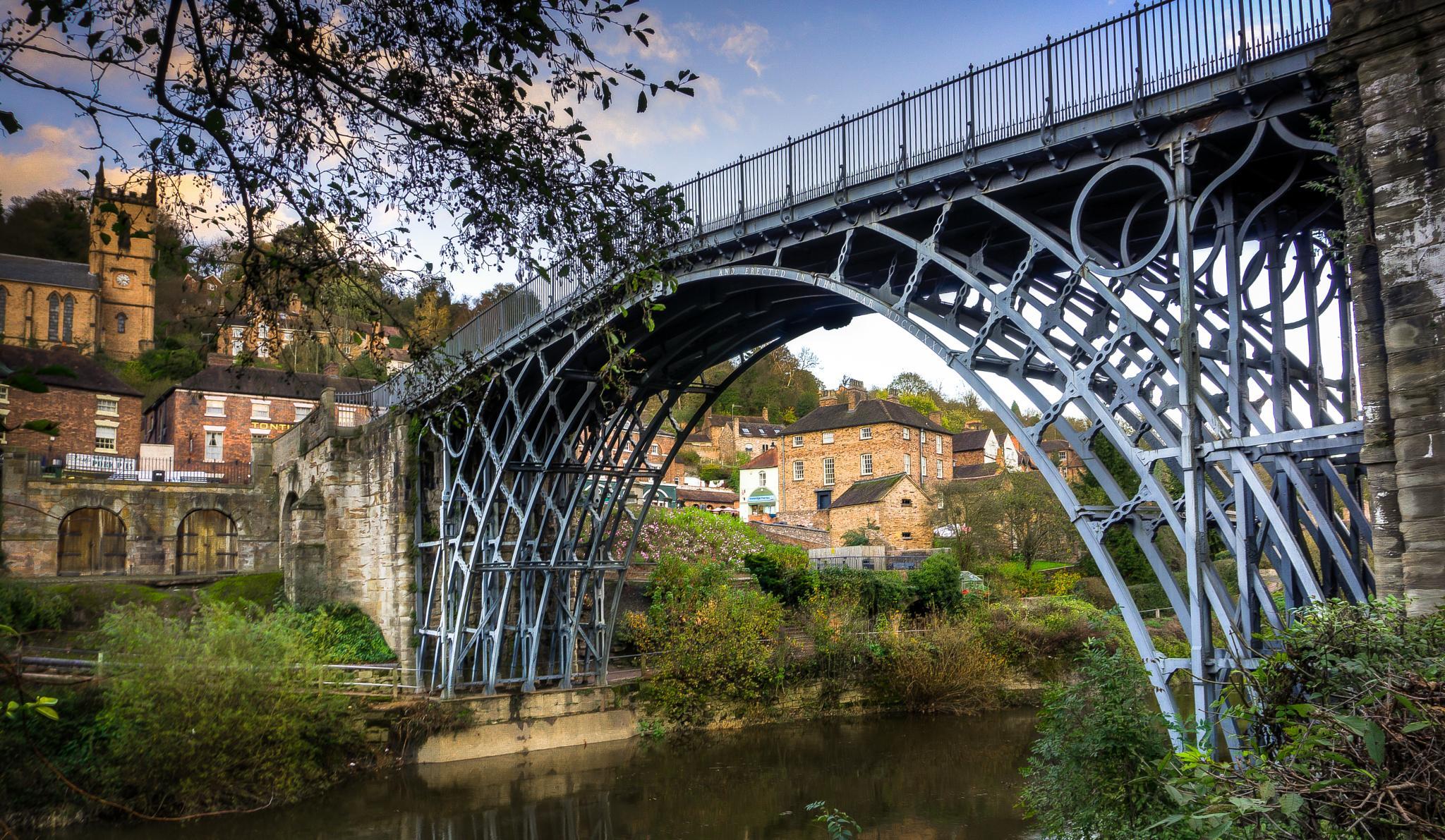 The Iron Bridge at Ironbridge, Shropshire by Jackie Evans