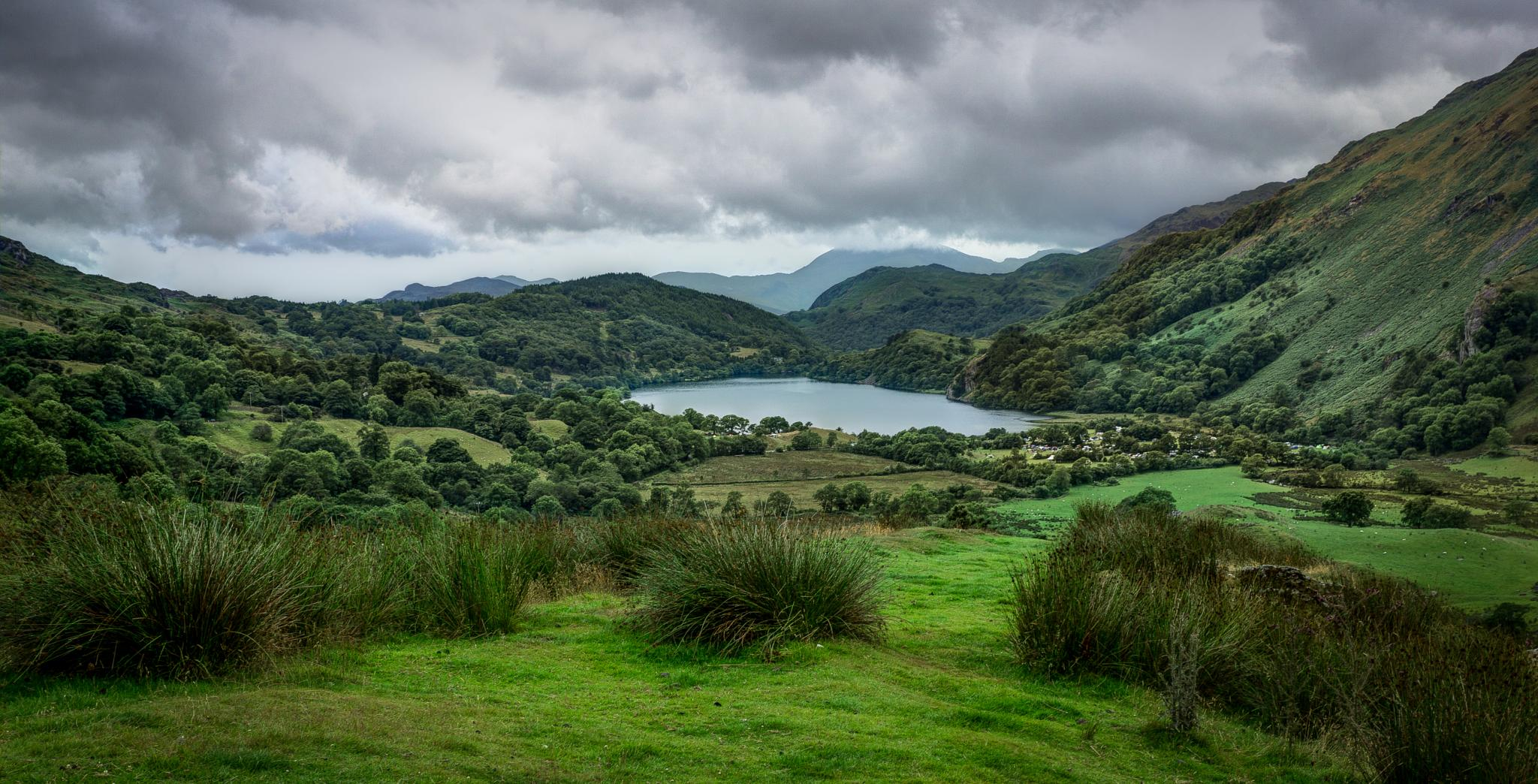 Lake Llyn Gwynant on the Beddgelert Rd, Snowdonia, North Wales, UK by Jackie Evans