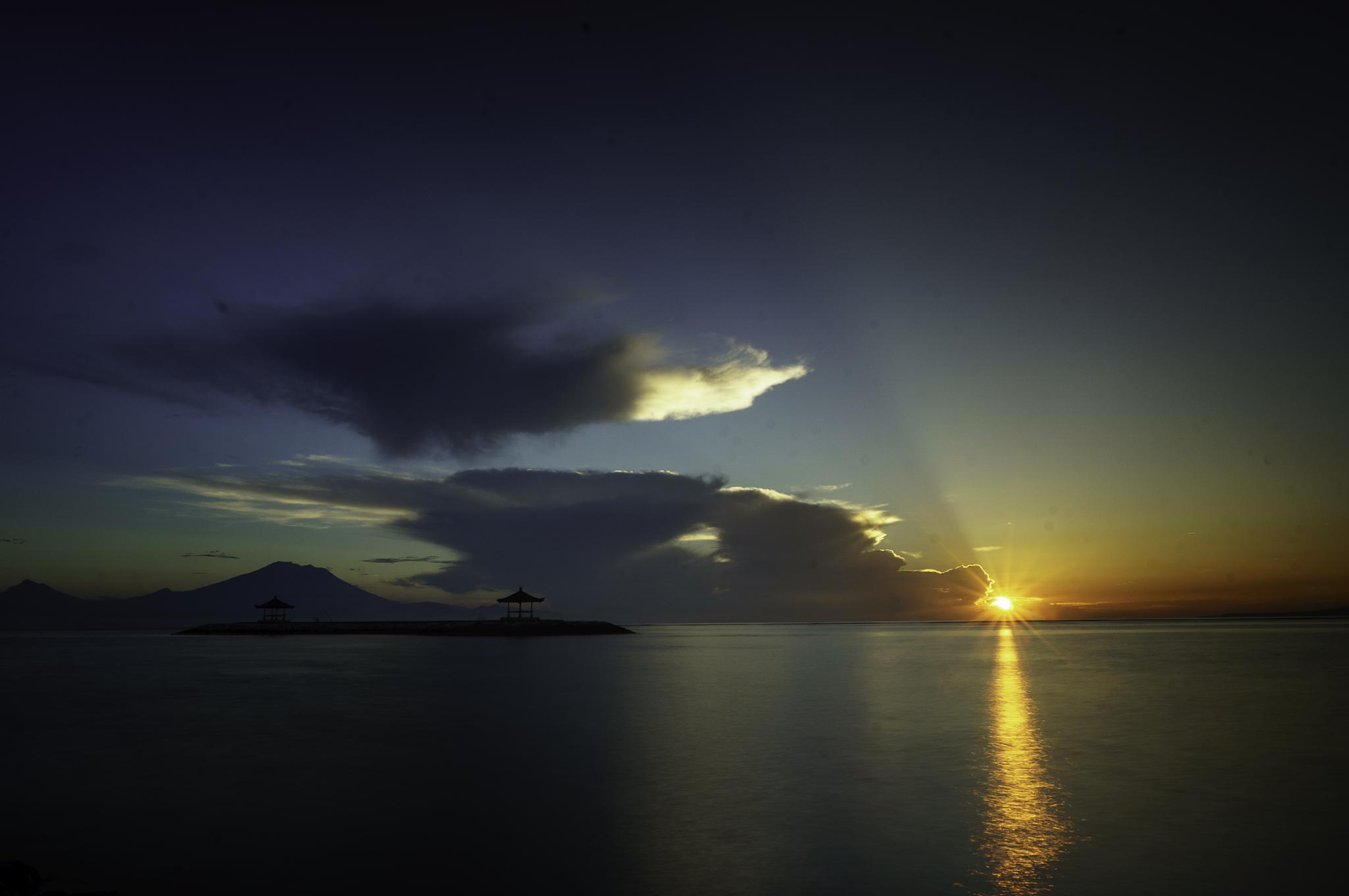 Sunrise at Pantai Karang  by adi